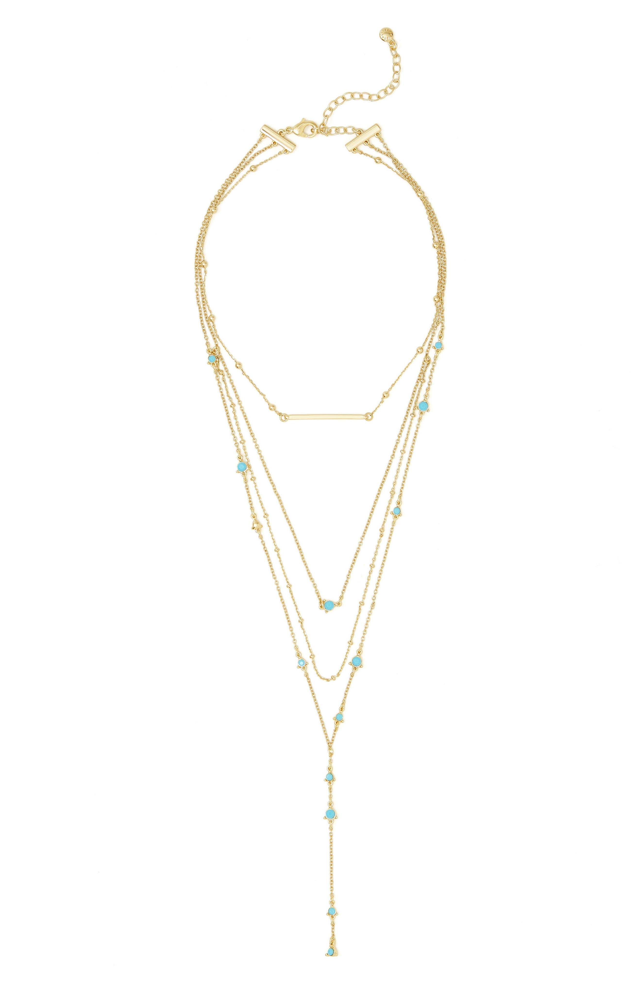 BaubleBar Harlow Layered Lariat Necklace