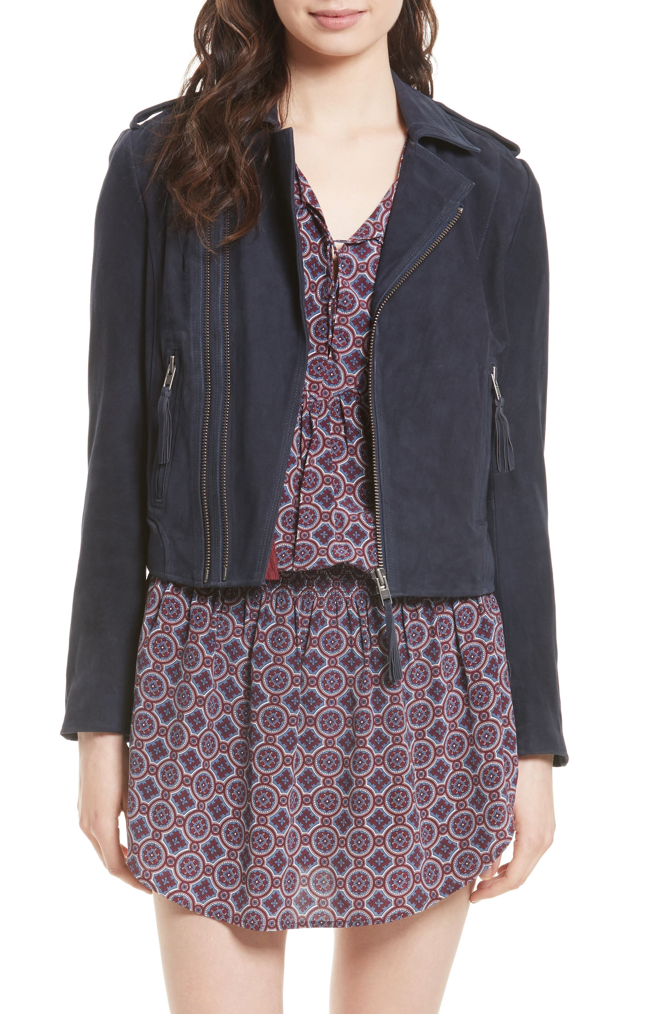 Joie Ailey Suede Moto Jacket