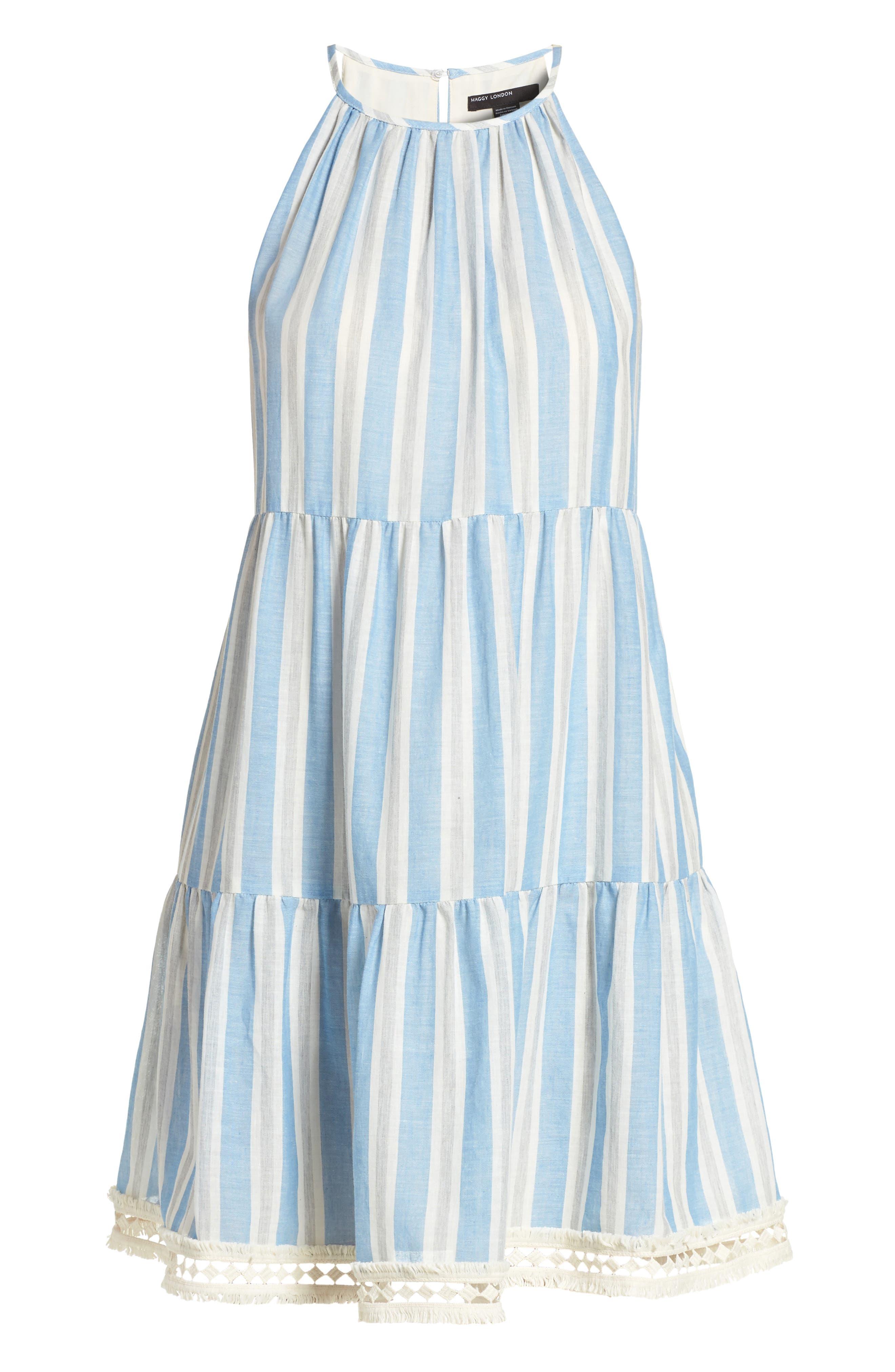 Alternate Image 6  - Maggy London Stripe Shift Dress (Regular & Petite)
