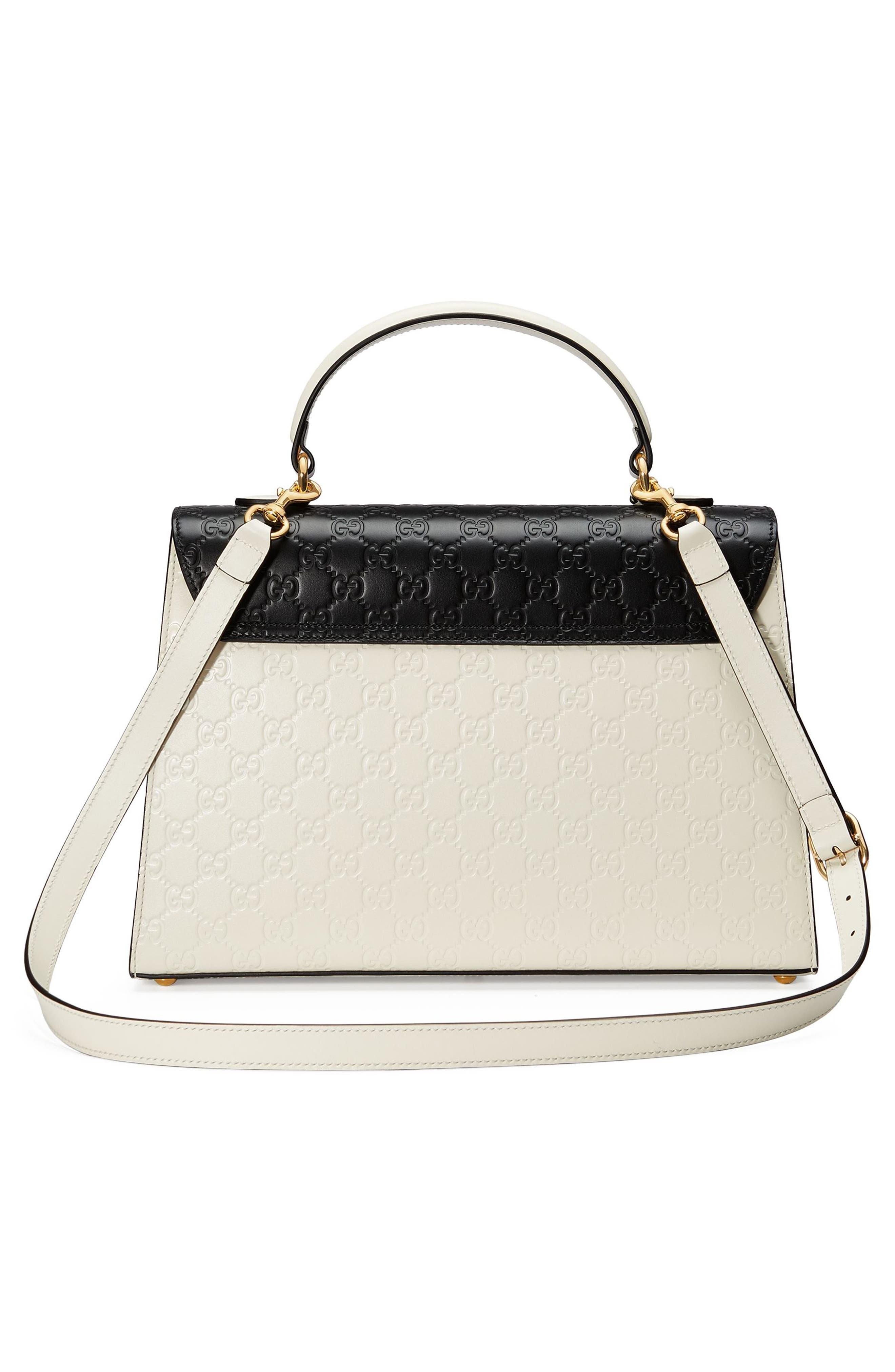 Alternate Image 2  - Gucci Medium Padlock Top Handles Signature Leather Satchel