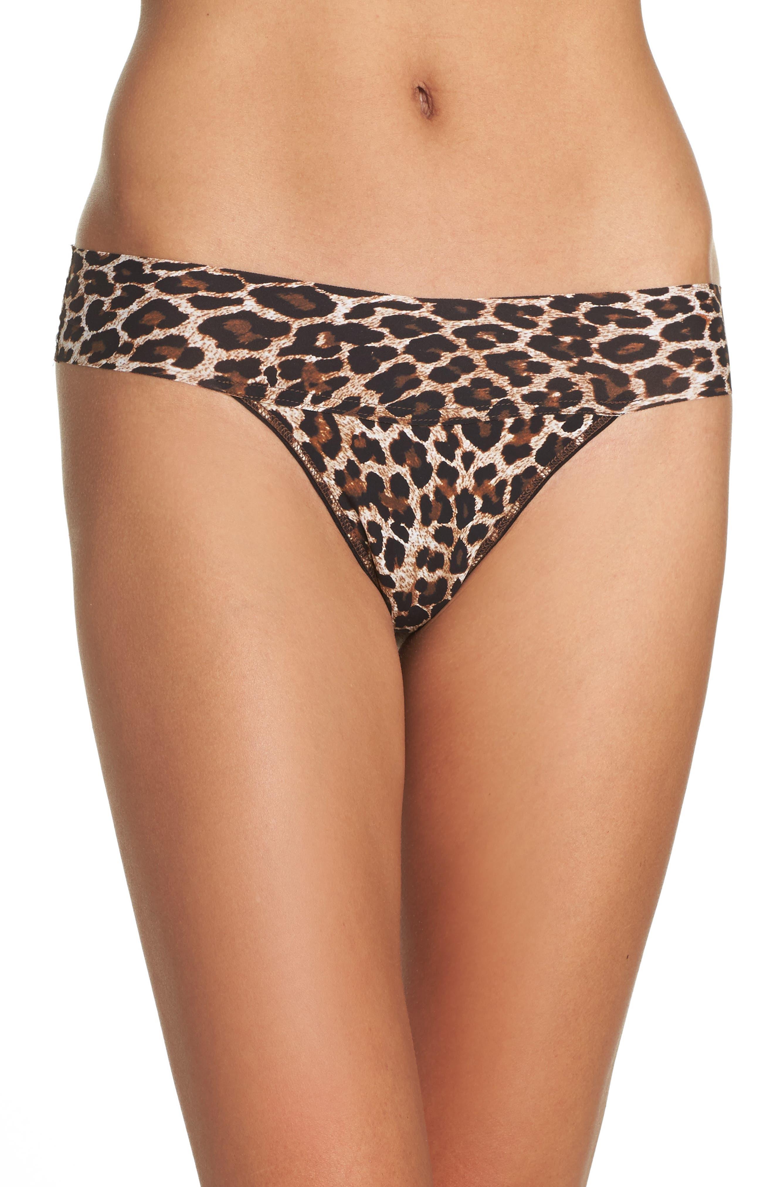 Hanky Panky Bare - Eve Leopard Print Thong