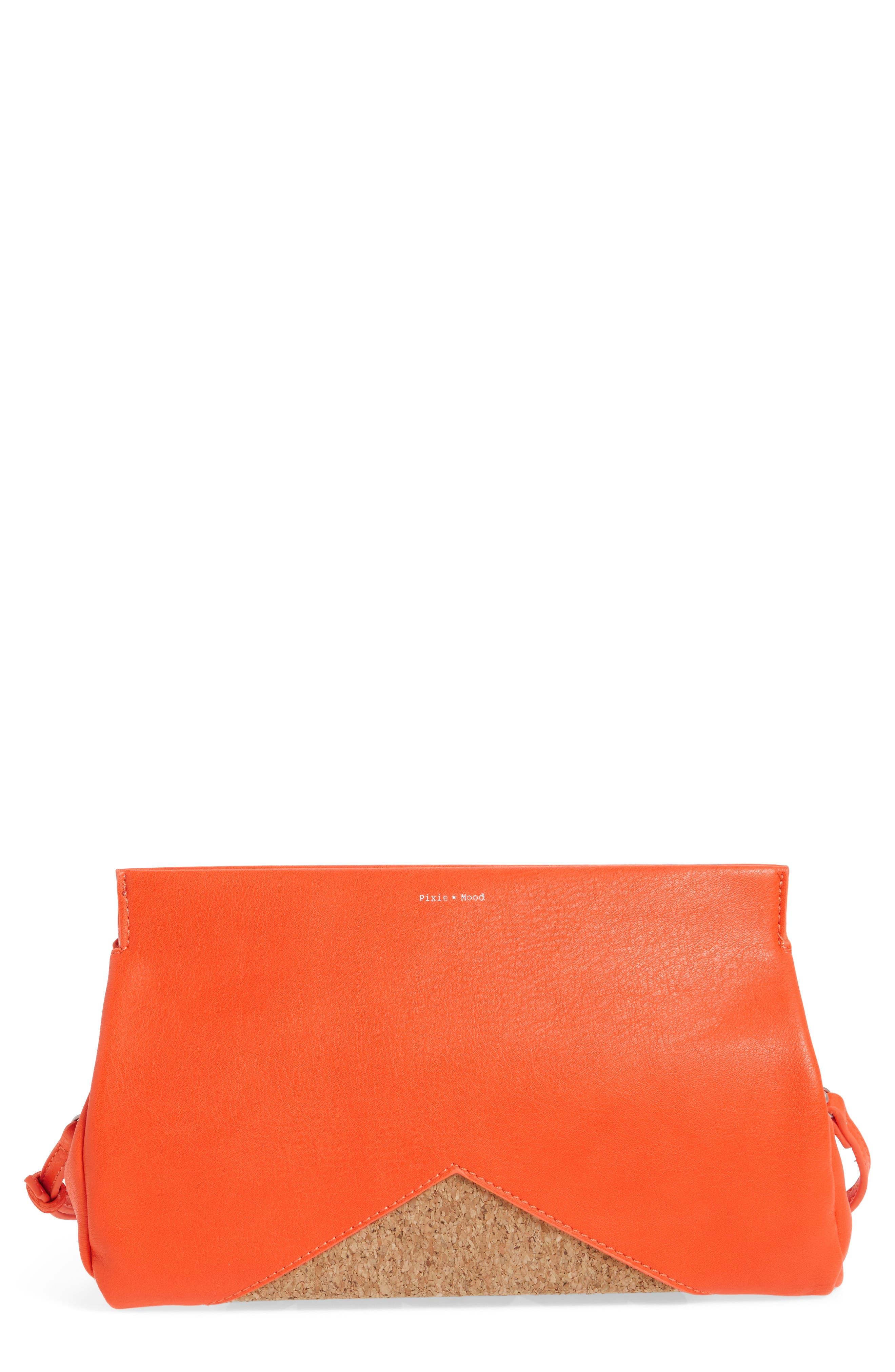 Pixie Mood Margaret Faux Leather Clutch