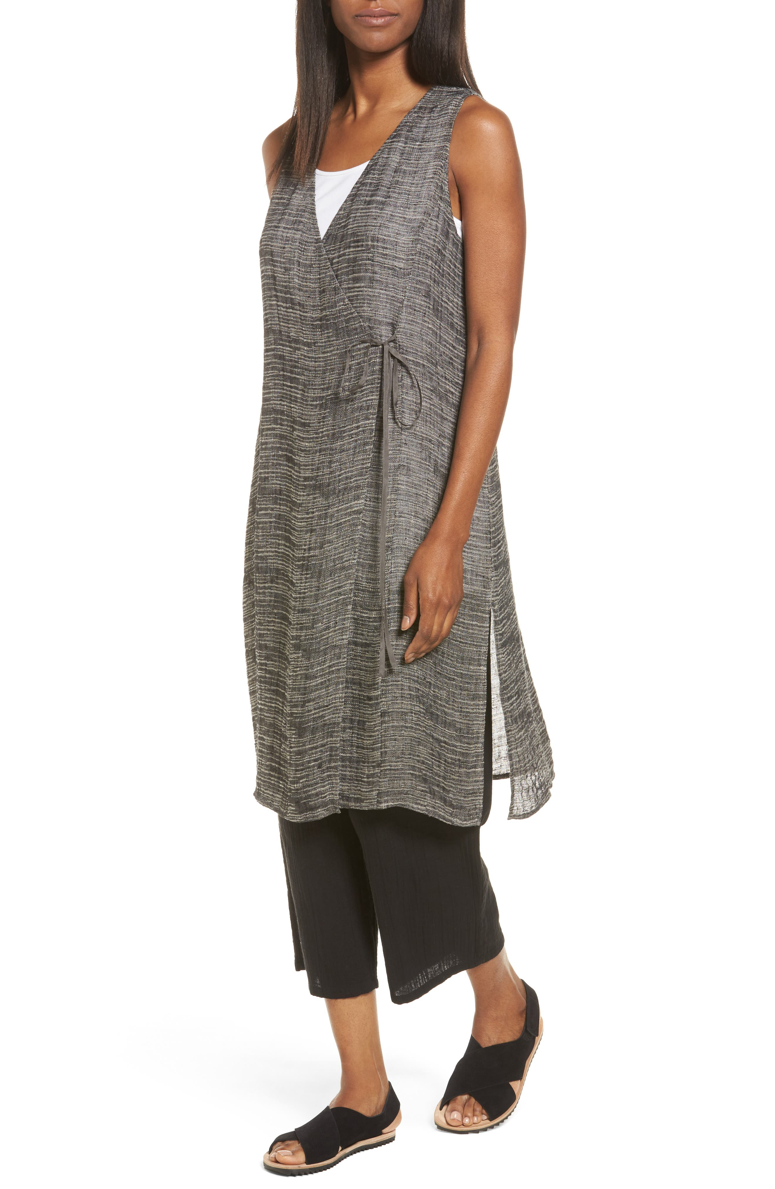 Eileen Fisher Organic Linen Blend Wrap Tunic (Regular & Petite)
