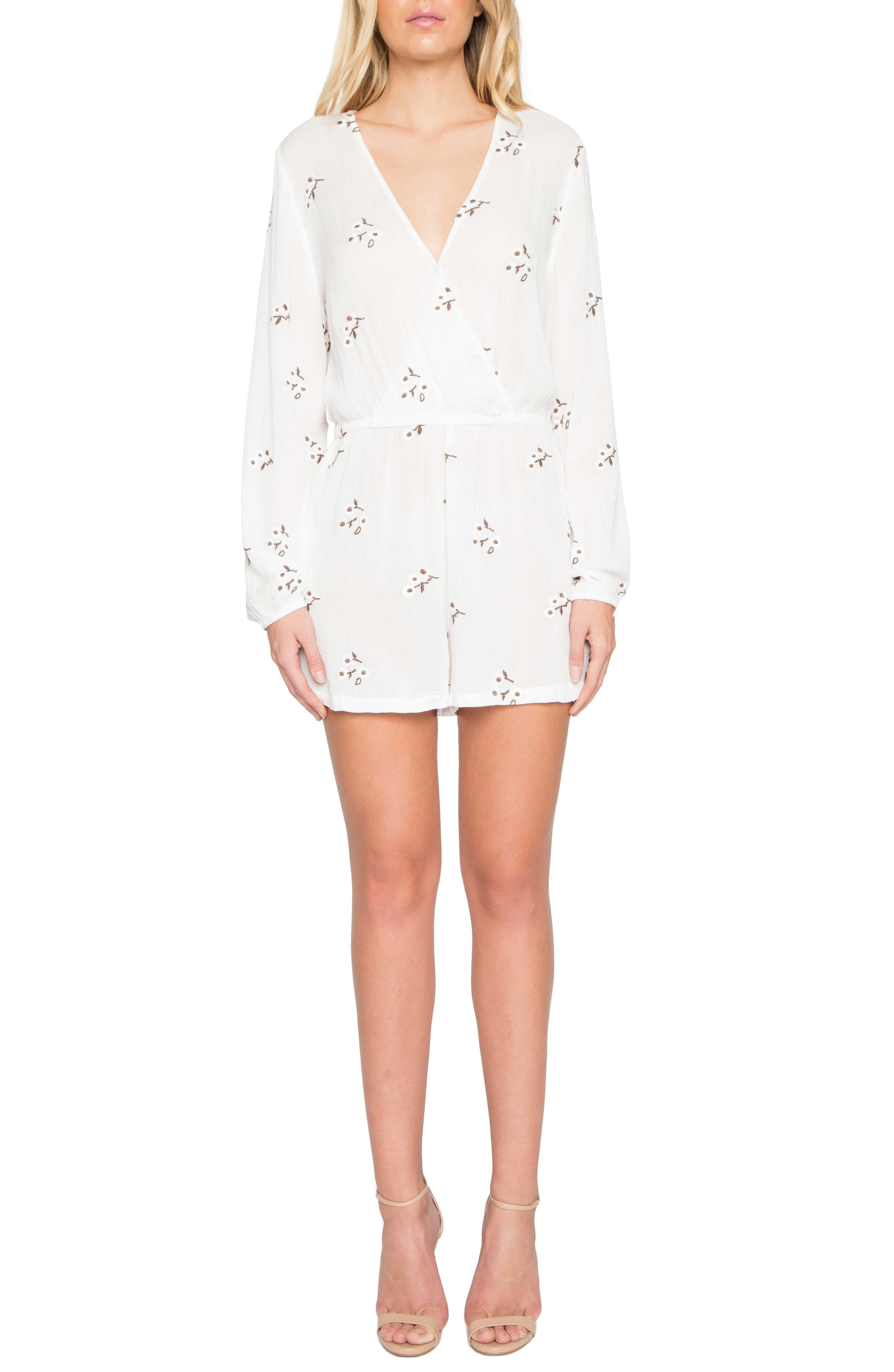 Willow & Clay Floral Embroidered Romper