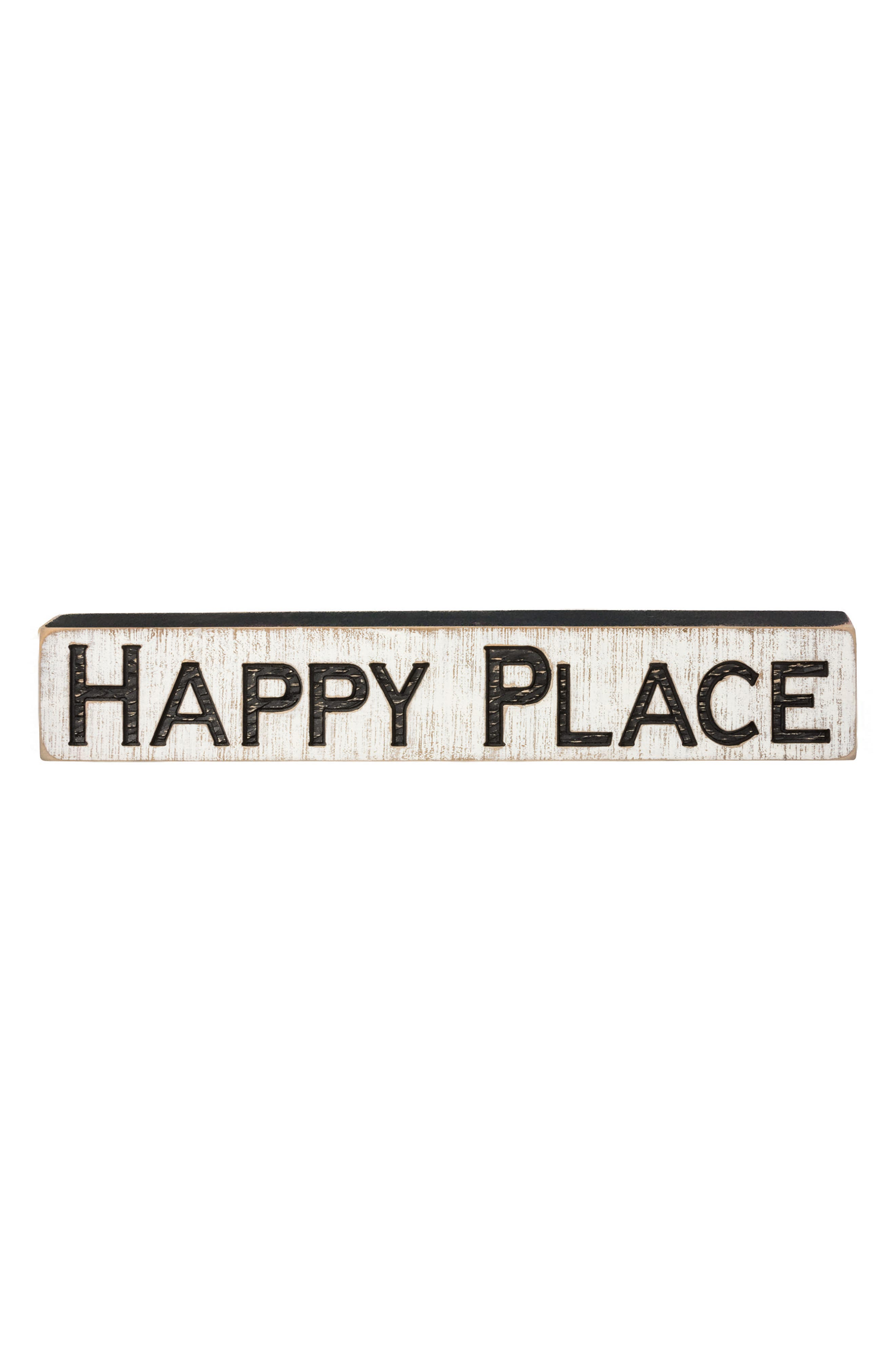 Primitives by Kathy Happy Place Distressed Wood Farmhouse Sign