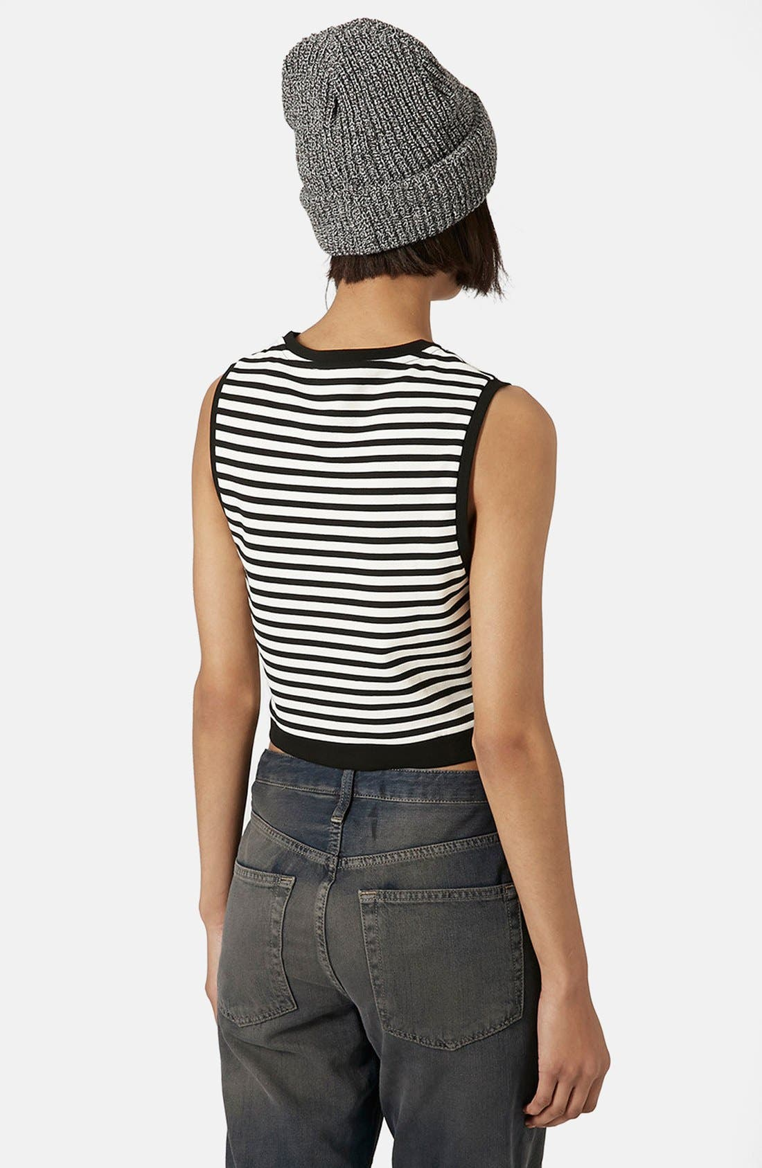 Alternate Image 2  - Topshop Stripe Shell Top