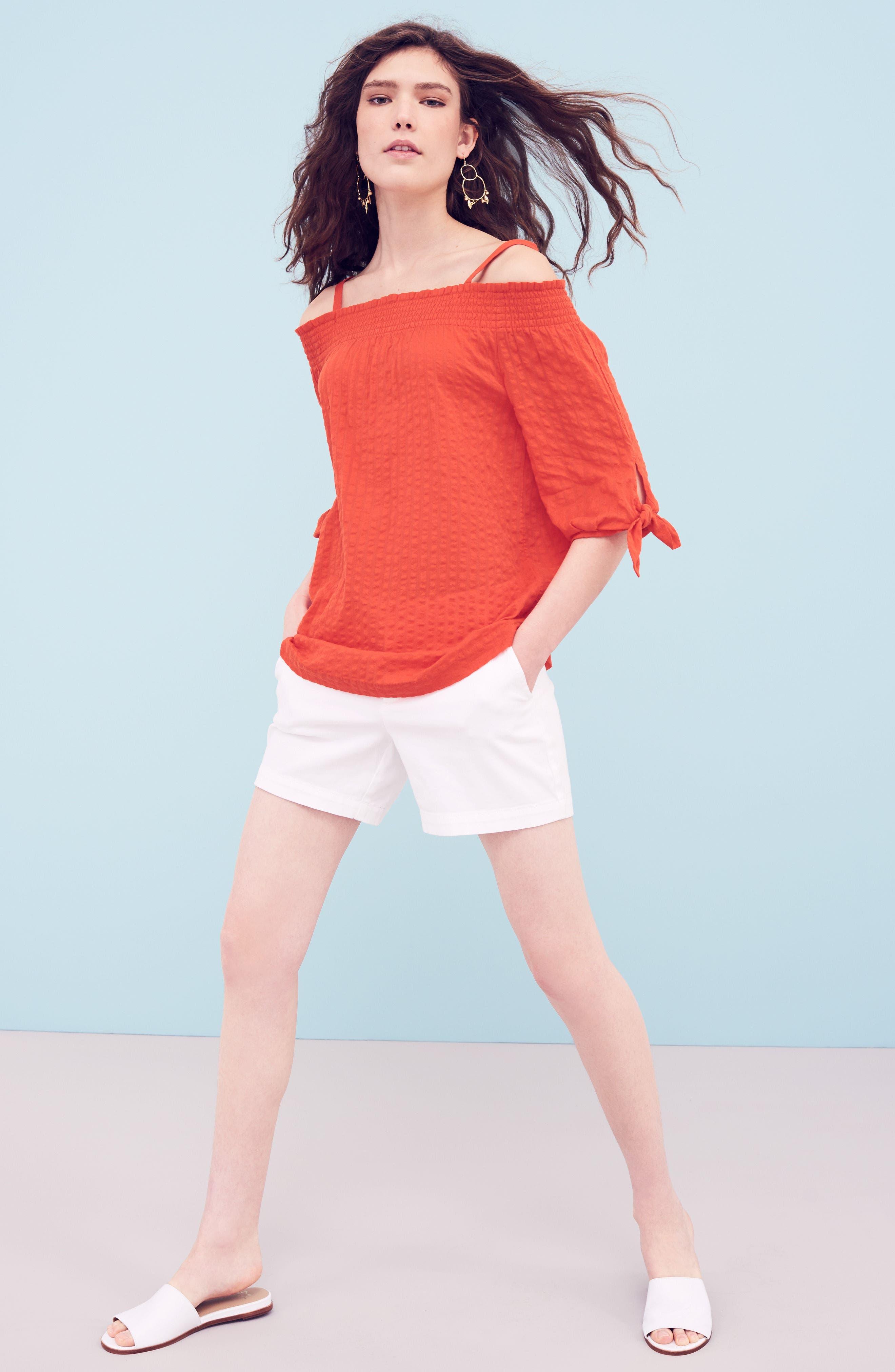 Alternate Image 2  - Caslon® Utility Shorts (Regular & Petite)