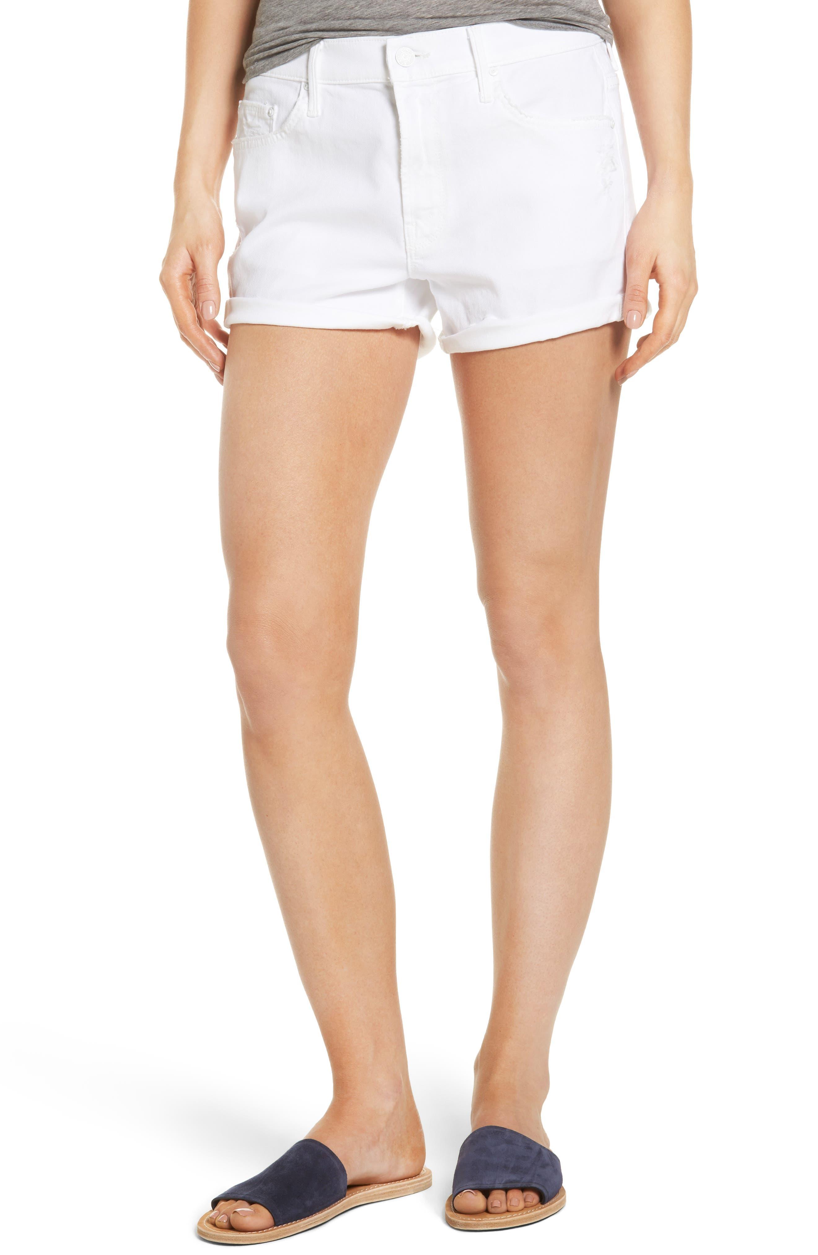 MOTHER Teaser Roller Shorts (Cracked Slipper)