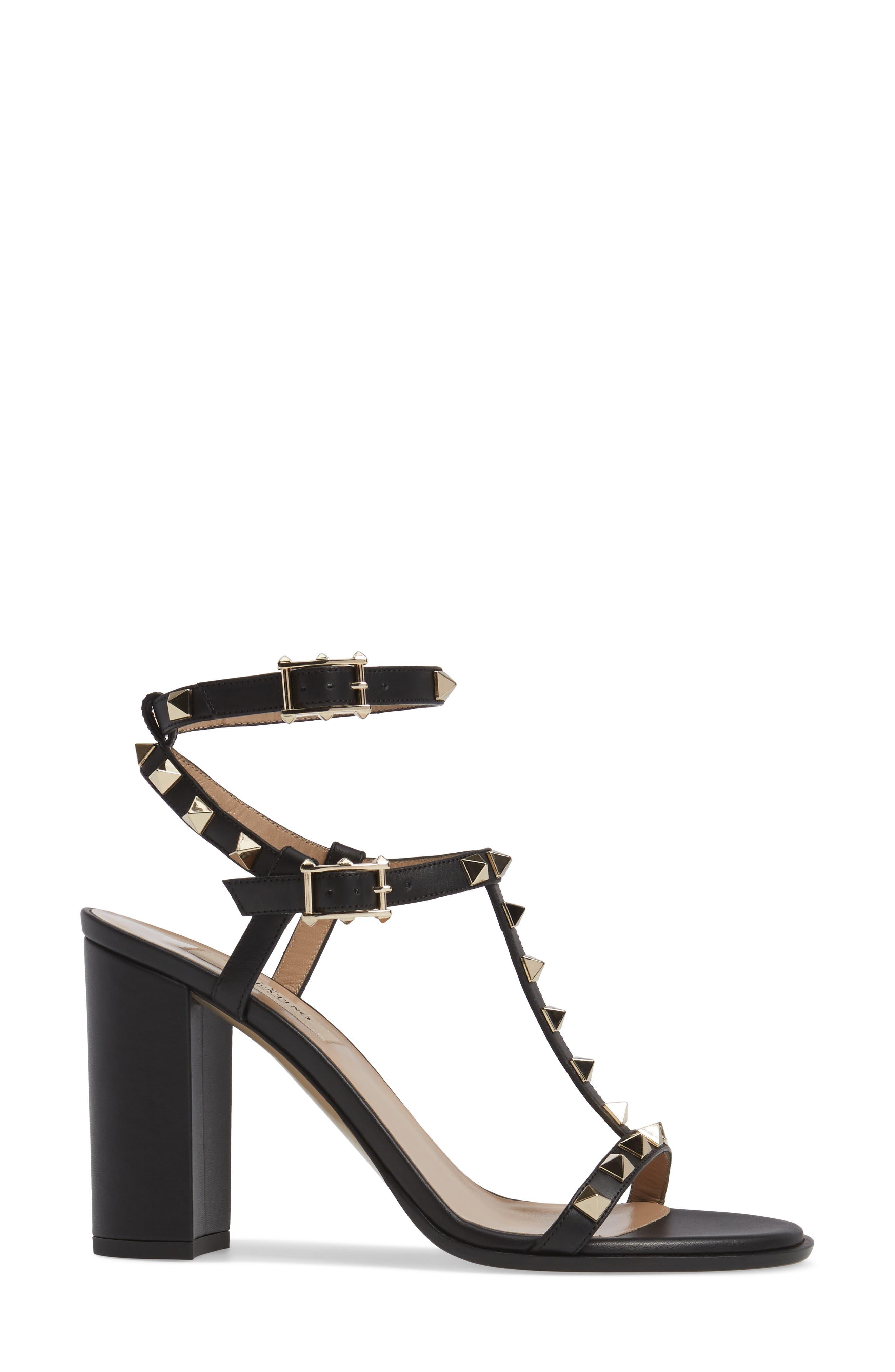 Alternate Image 3  - Valentino Rockstud Ankle Strap Sandal (Women)