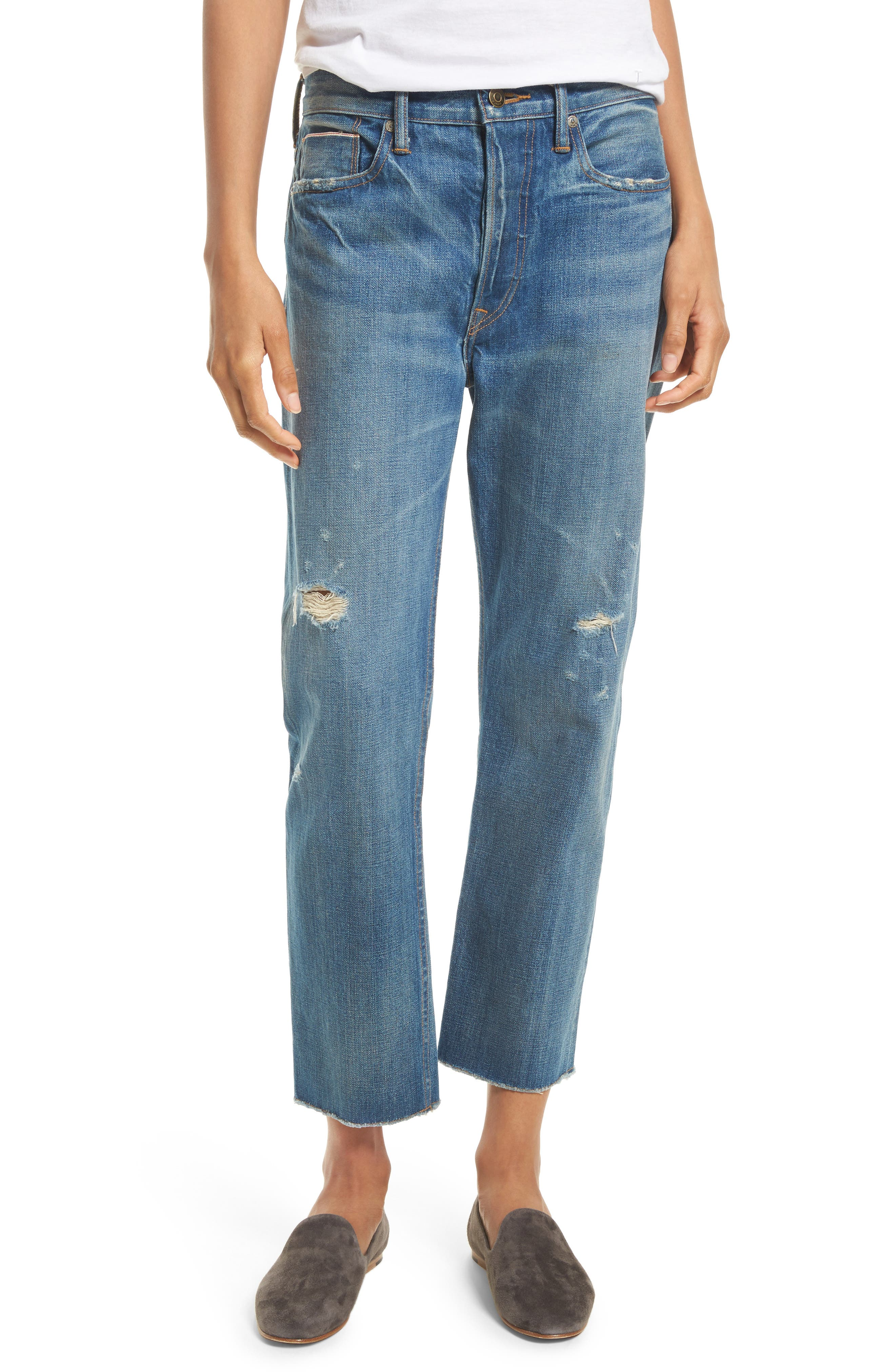 Alternate Image 1 Selected - Vince Union Distressed Slouch Jeans