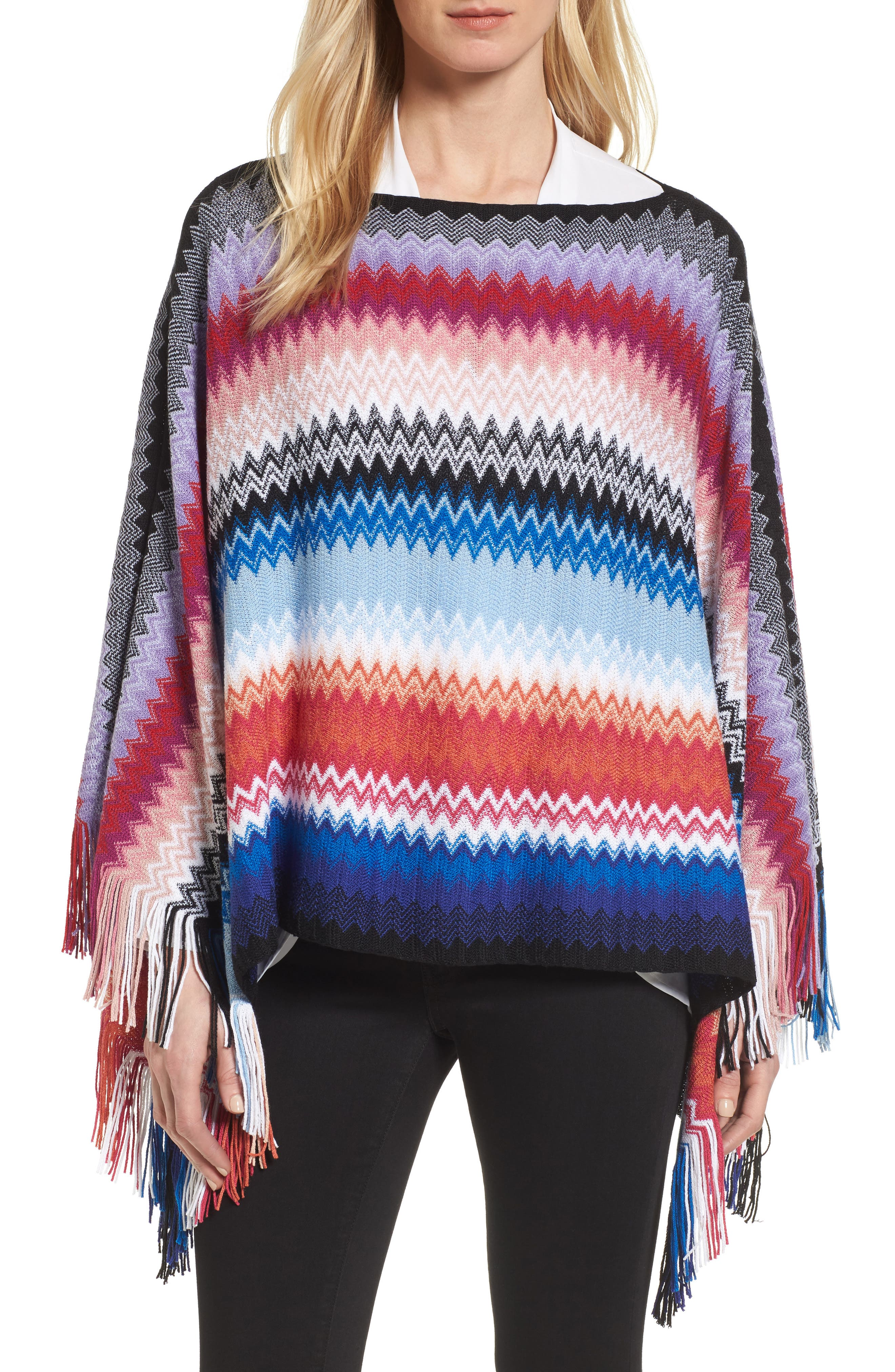 Missoni Zigzag Wool Blend Poncho (Nordstrom Exclusive)