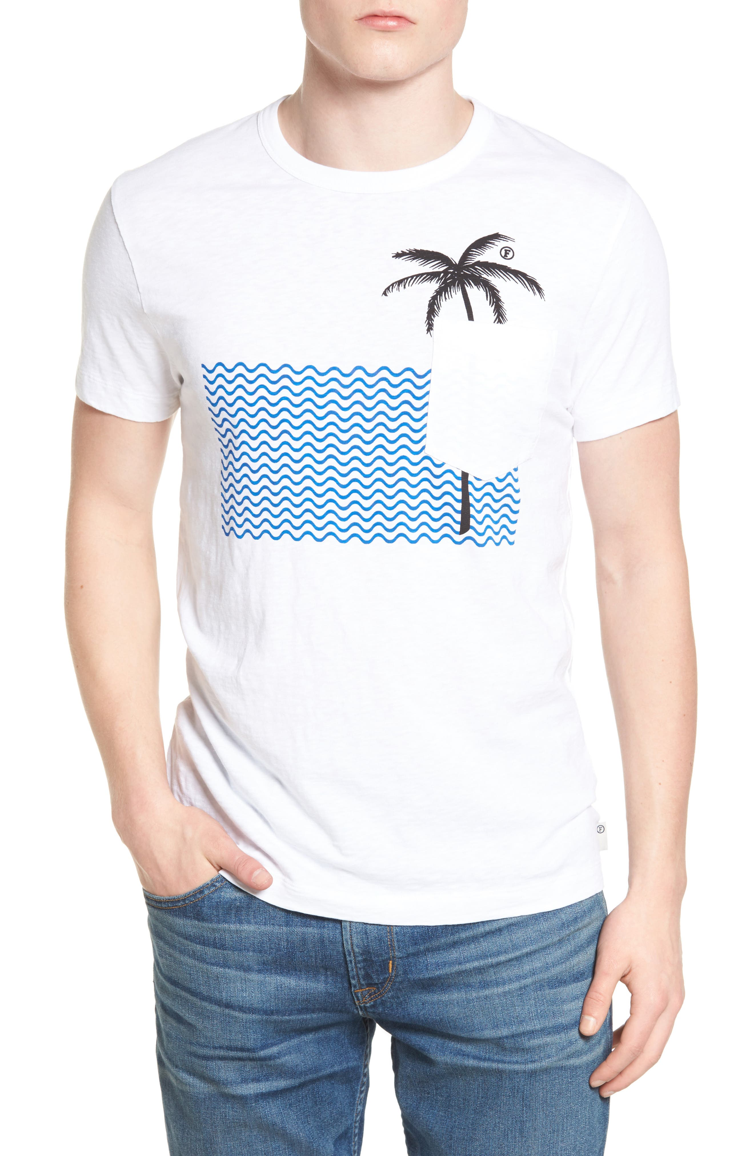 French Connection Palm Cotton T-Shirt