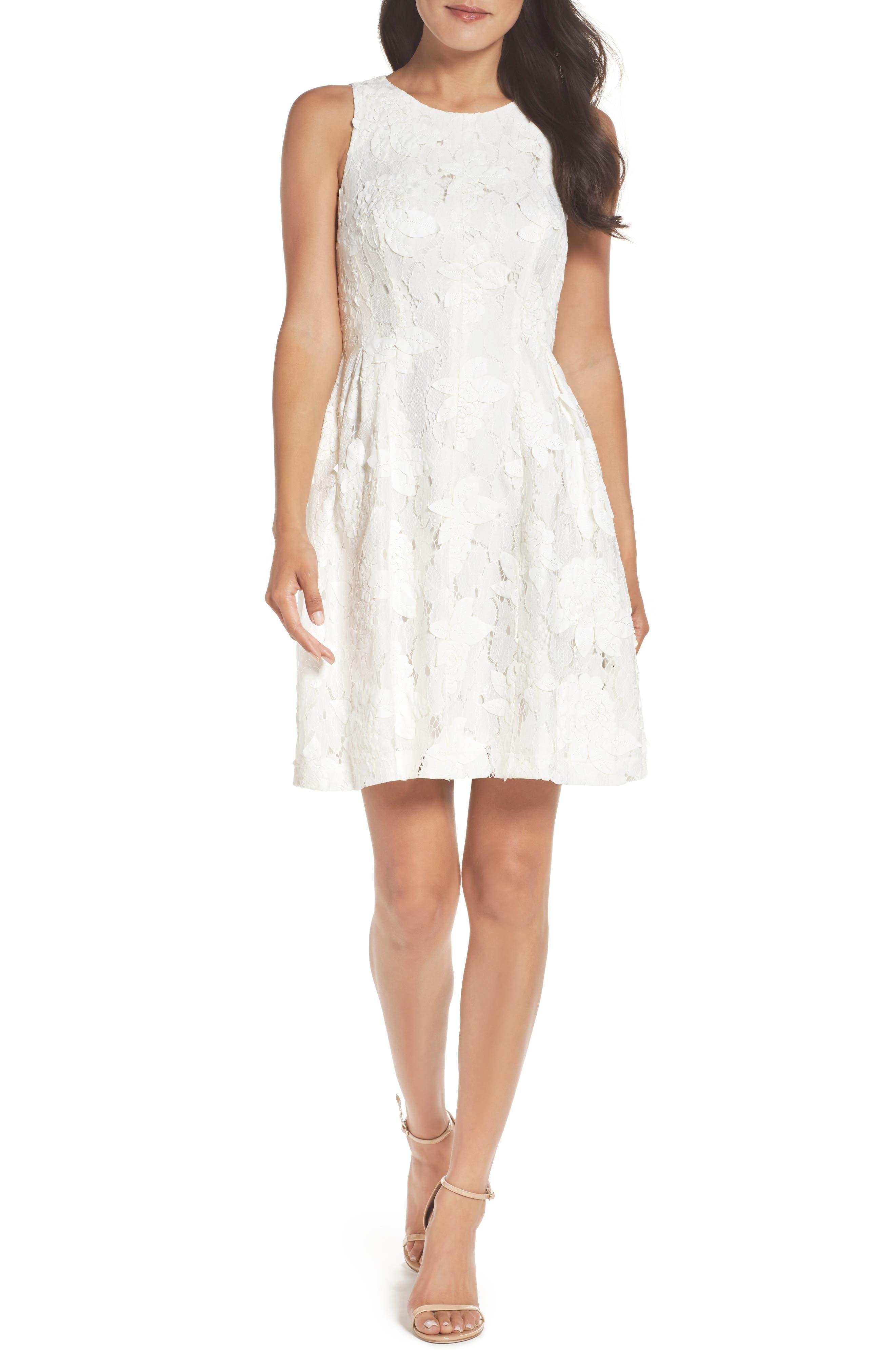 Tahari Fit & Flare Dress (Regular & Petite)