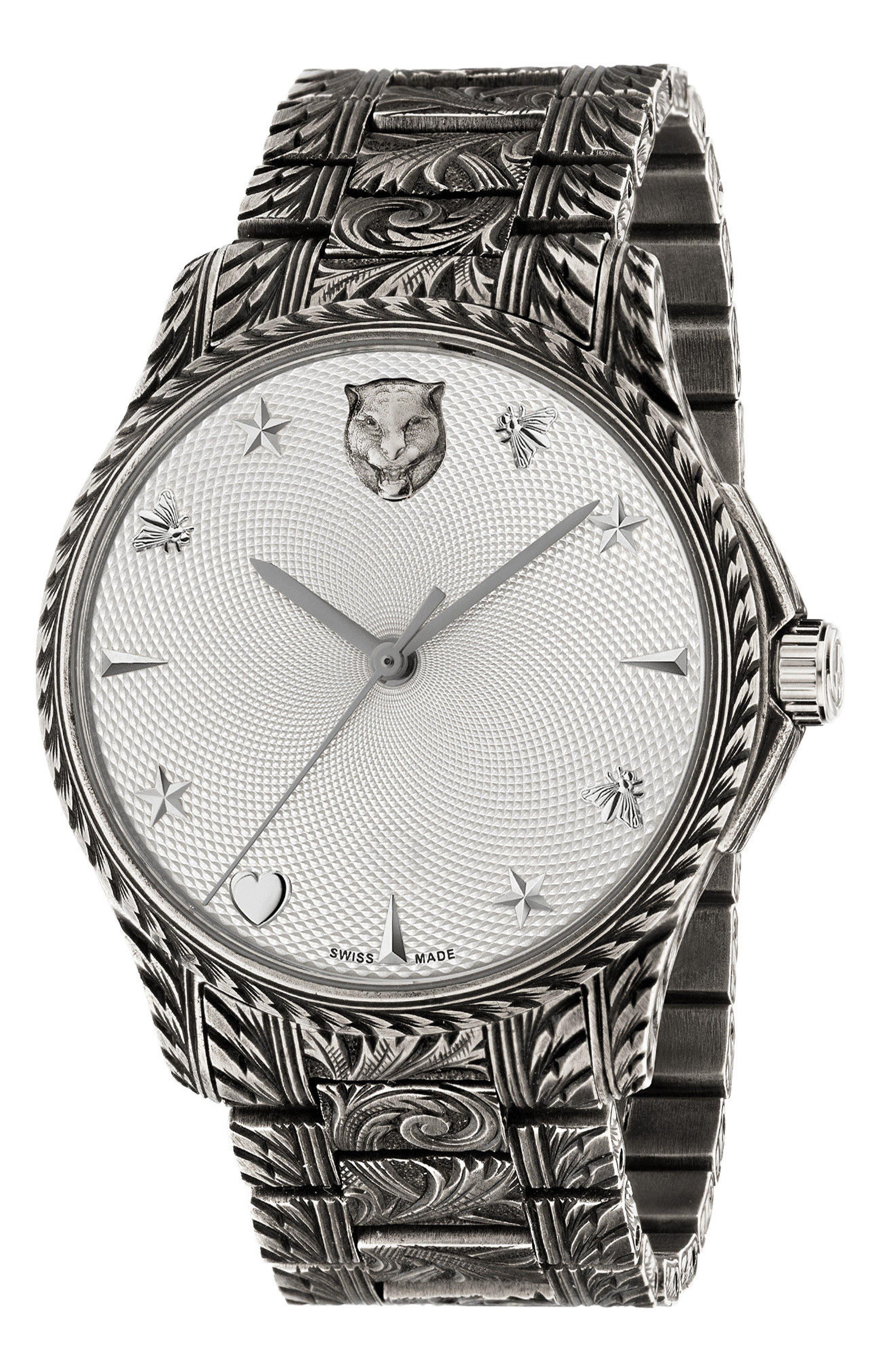 Alternate Image 1 Selected - Gucci Le Marché Des Merveilles Automatic Bracelet Watch, 38mm