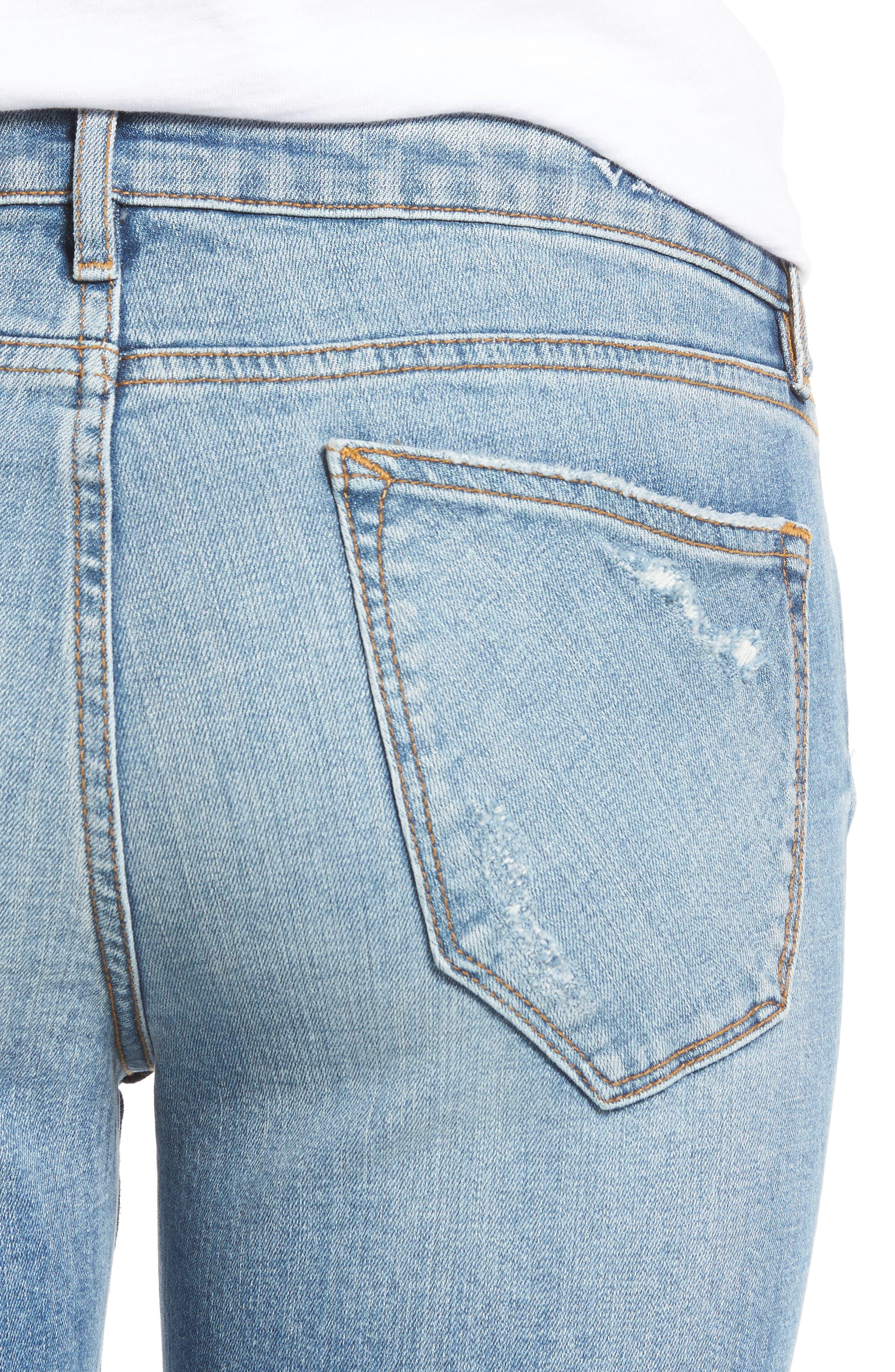 Alternate Image 4  - Vigoss Tomboy Ripped Skinny Jeans
