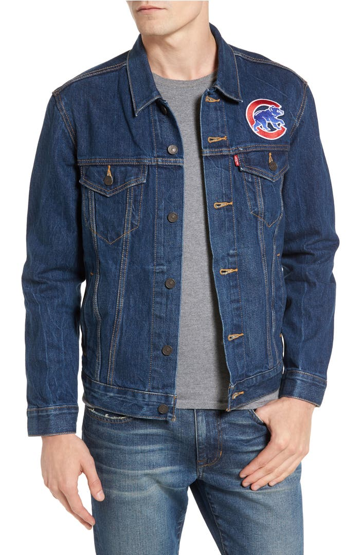 Levi S 174 Chicago Cubs Demin Trucker Jacket Nordstrom