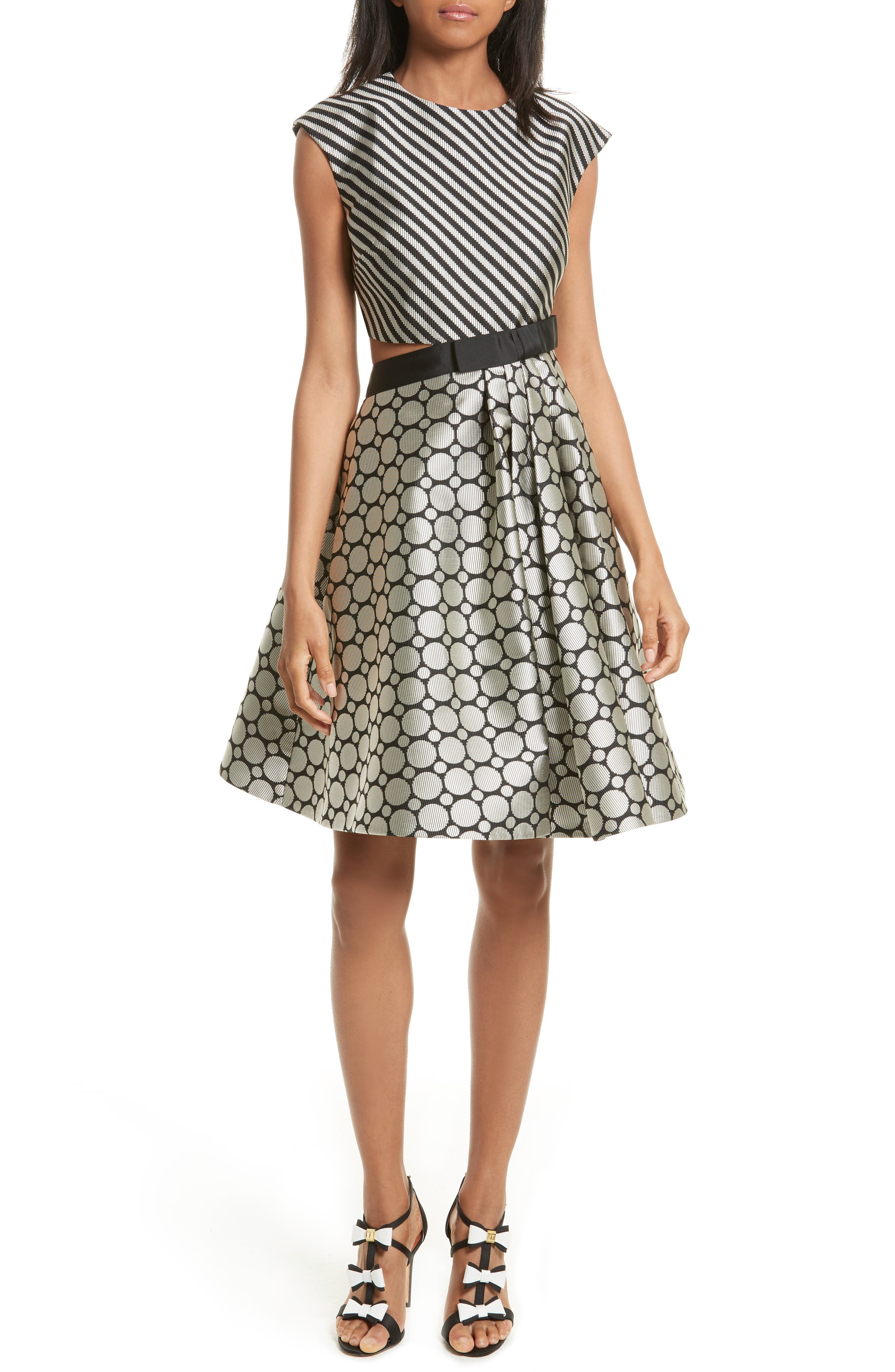 Ted Baker London Reetah Side Cutout Fit & Flare Dress