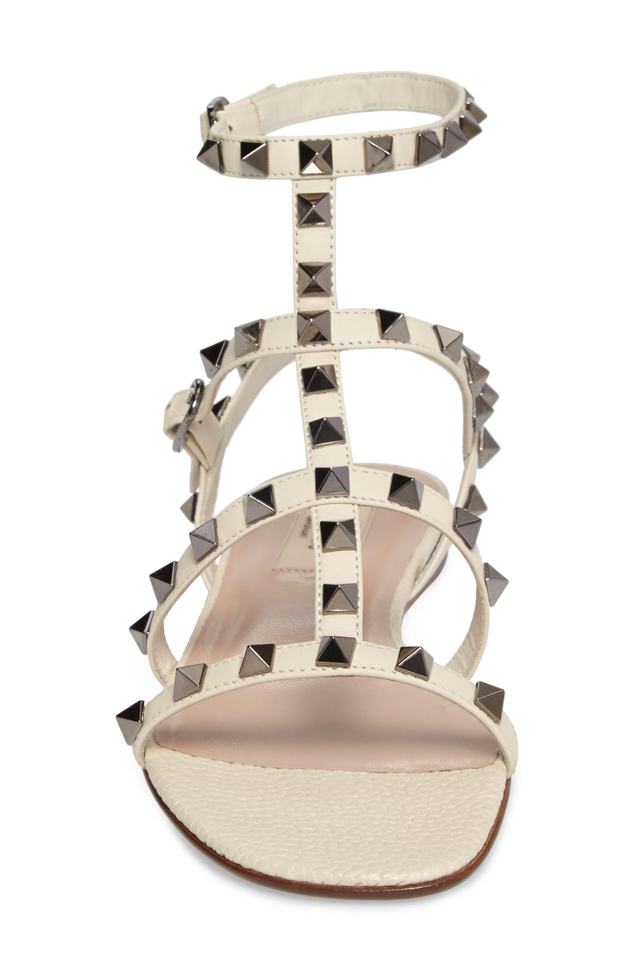 Alternate Image 4  - Valentino Rockstud Gladiator Sandal (Women)