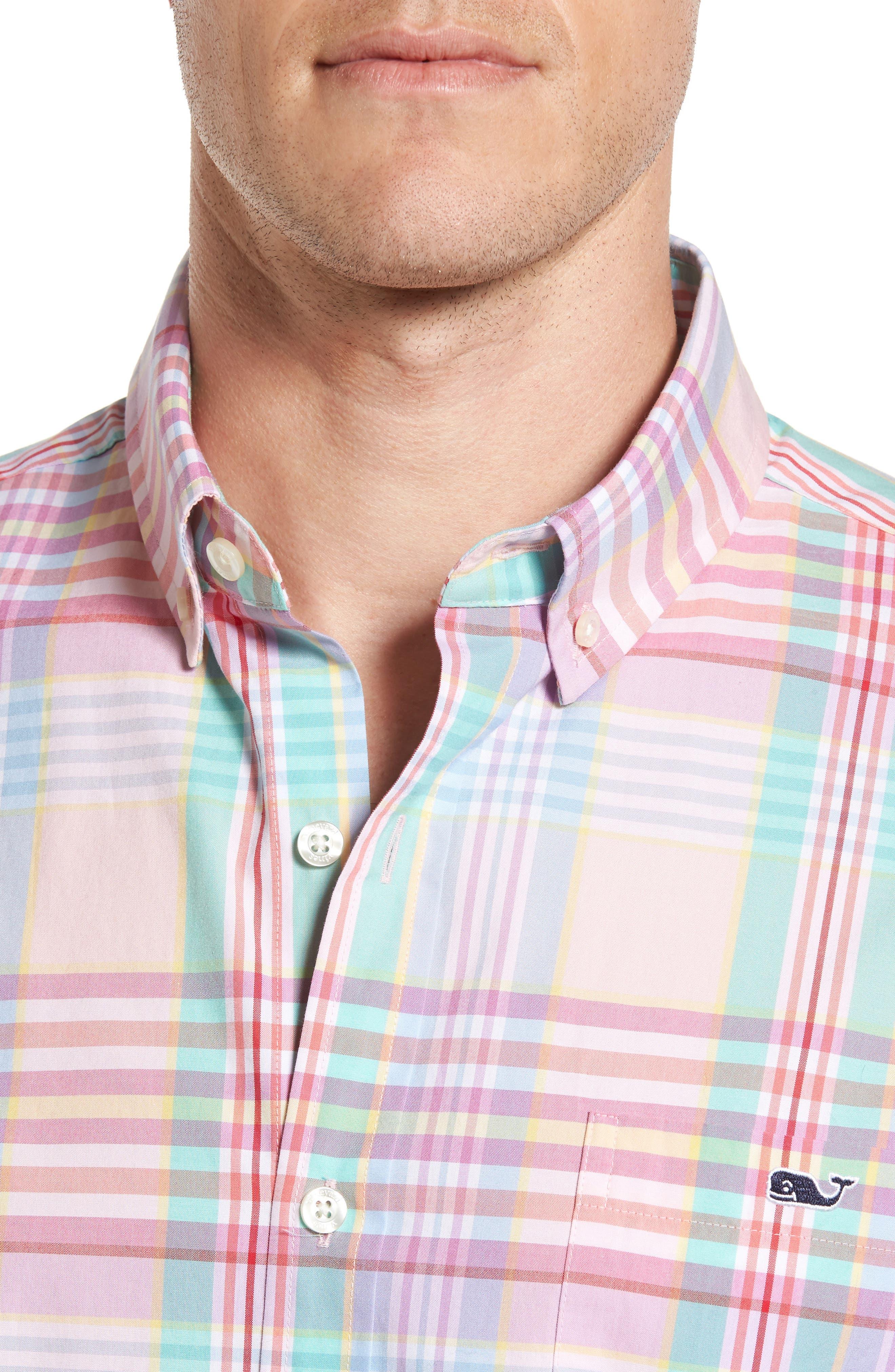 Alternate Image 4  - Vineyard Vines Slim Fit Tucker Plaid Sport Shirt