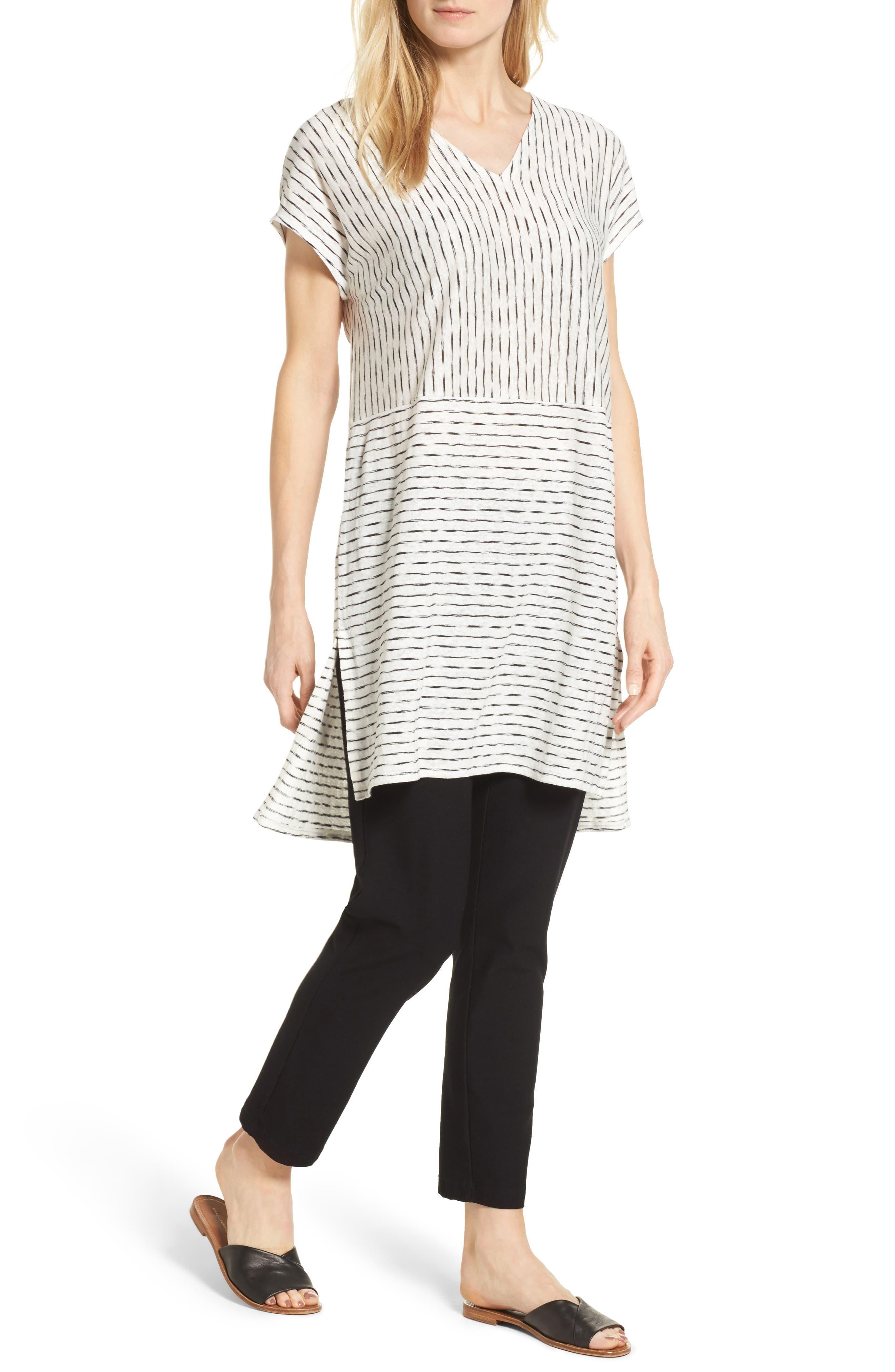 Eileen Fisher Linen Blend Knit Tunic (Regular & Petite)