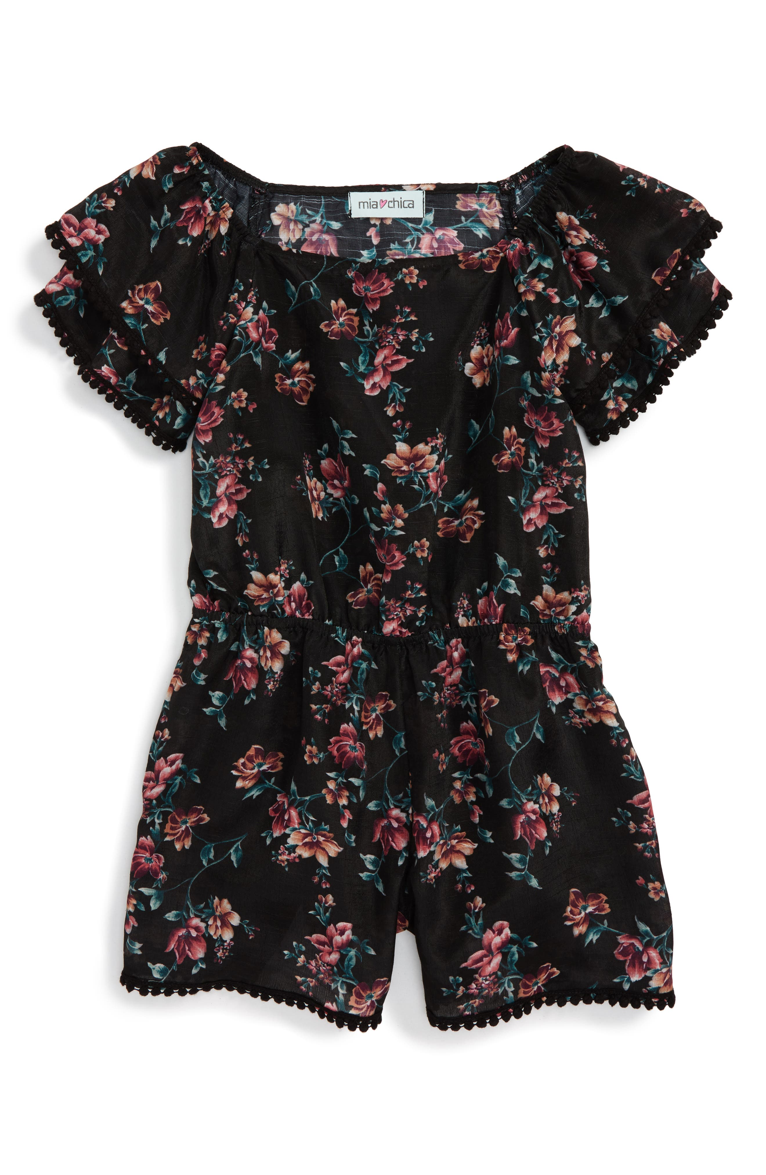 Mia Chica Off the Shoulder Romper (Big Girls)