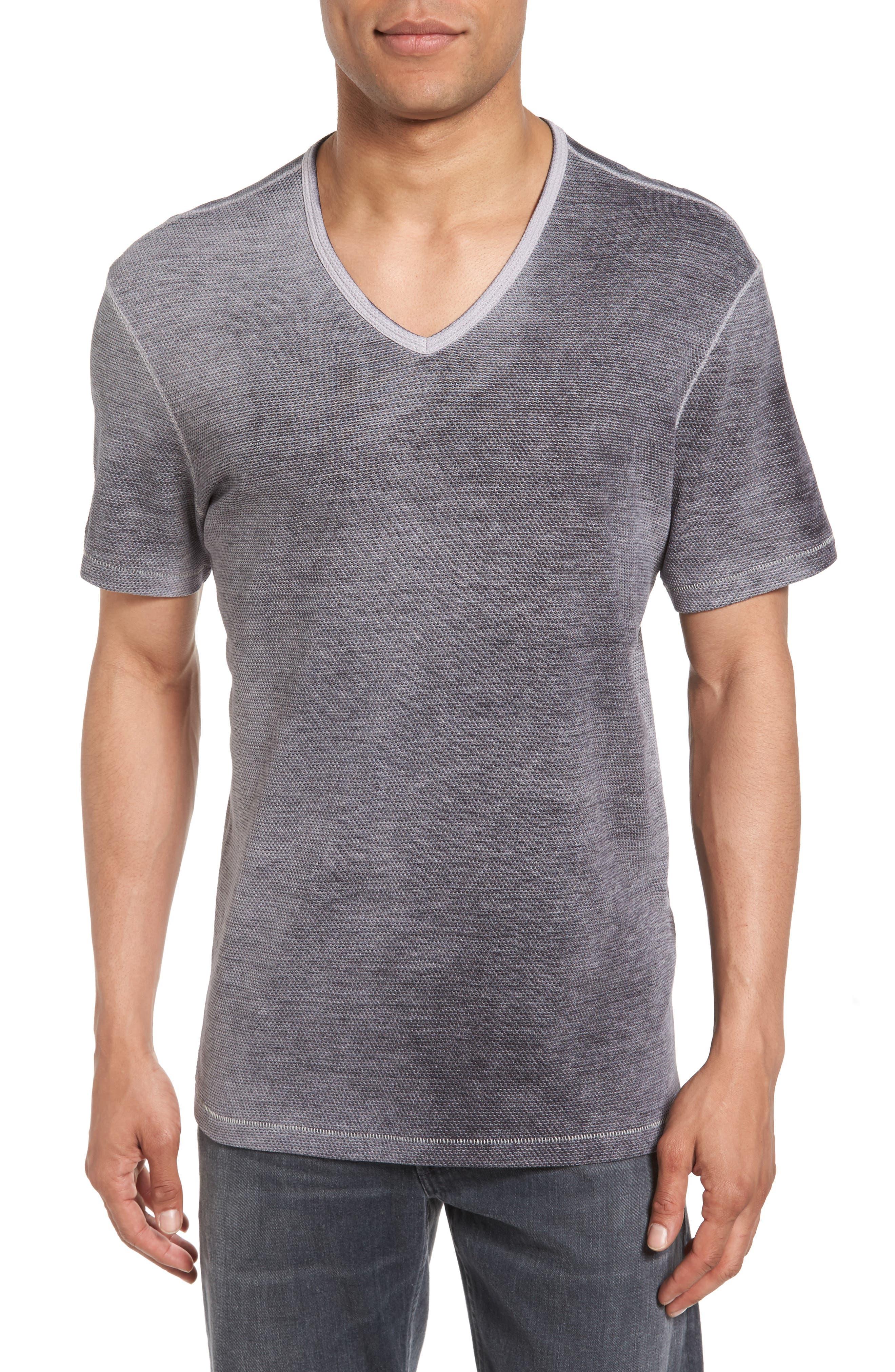 John Varvatos Star USA Mini Jacquard V-Neck T-Shirt