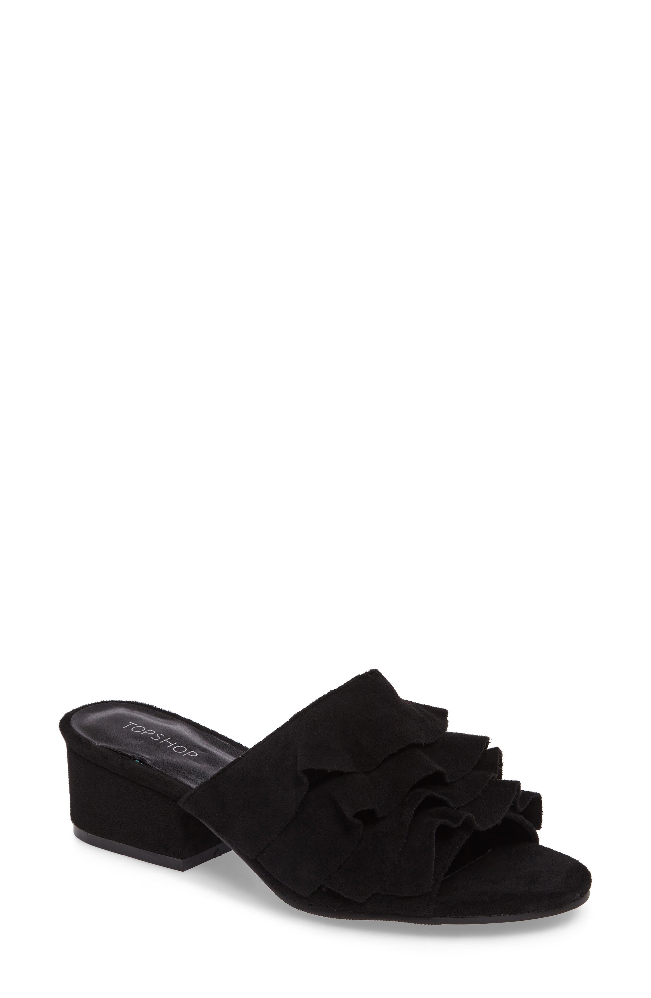 Main Image - Topshop Darcy Ruffle Slide Sandal (Women)