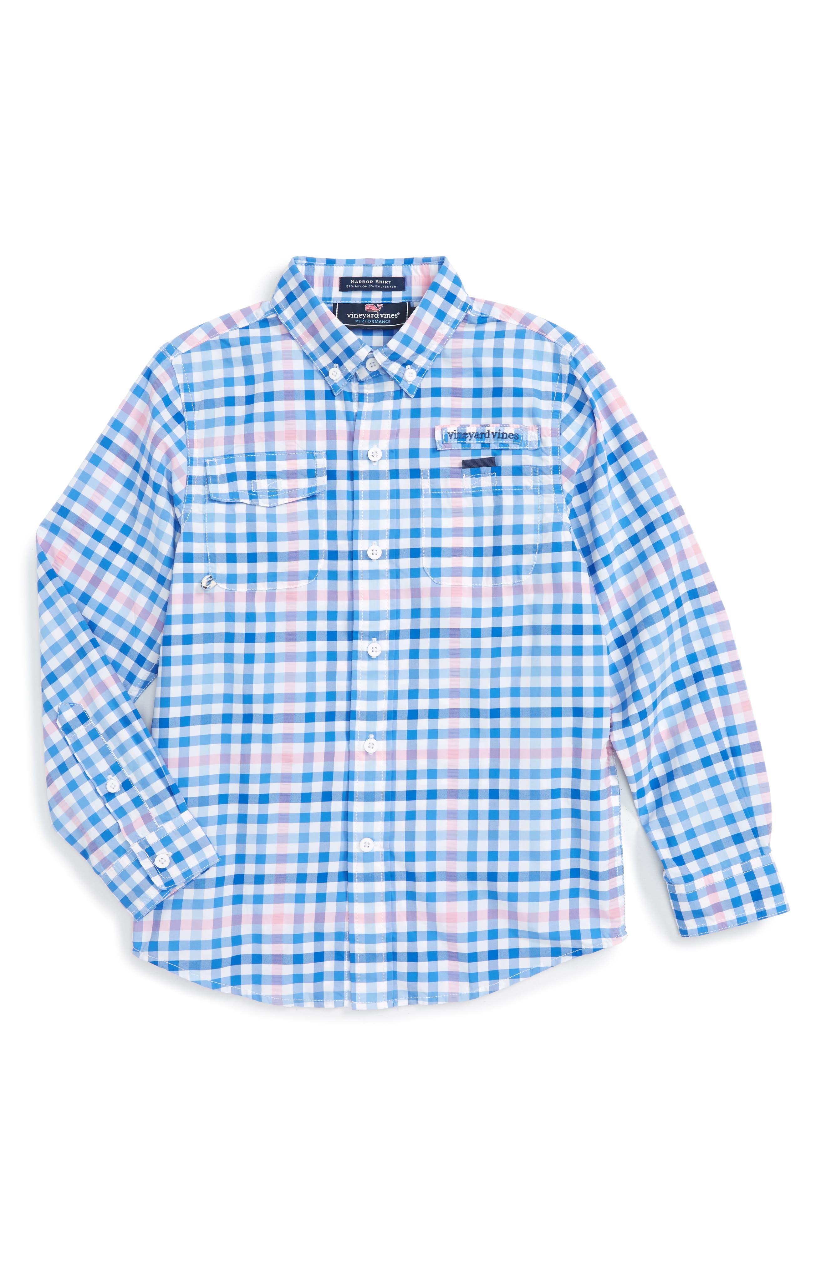Vineyard Vines Salt Island Harbor Plaid Shirt (Toddler Boys & Little Boys)