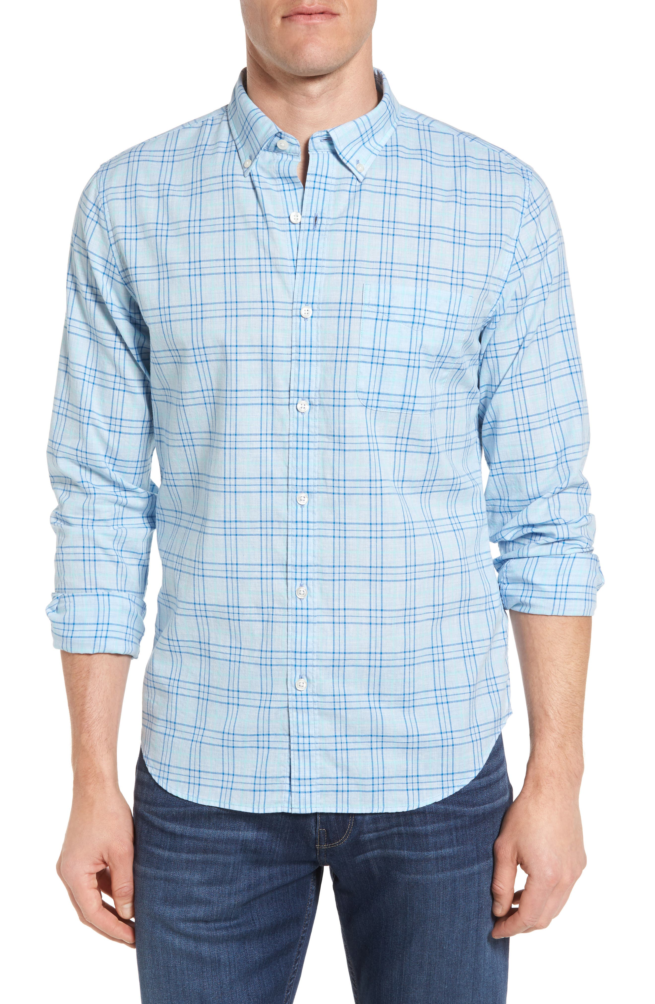 Bonobos Slim Fit Plaid Sport Shirt