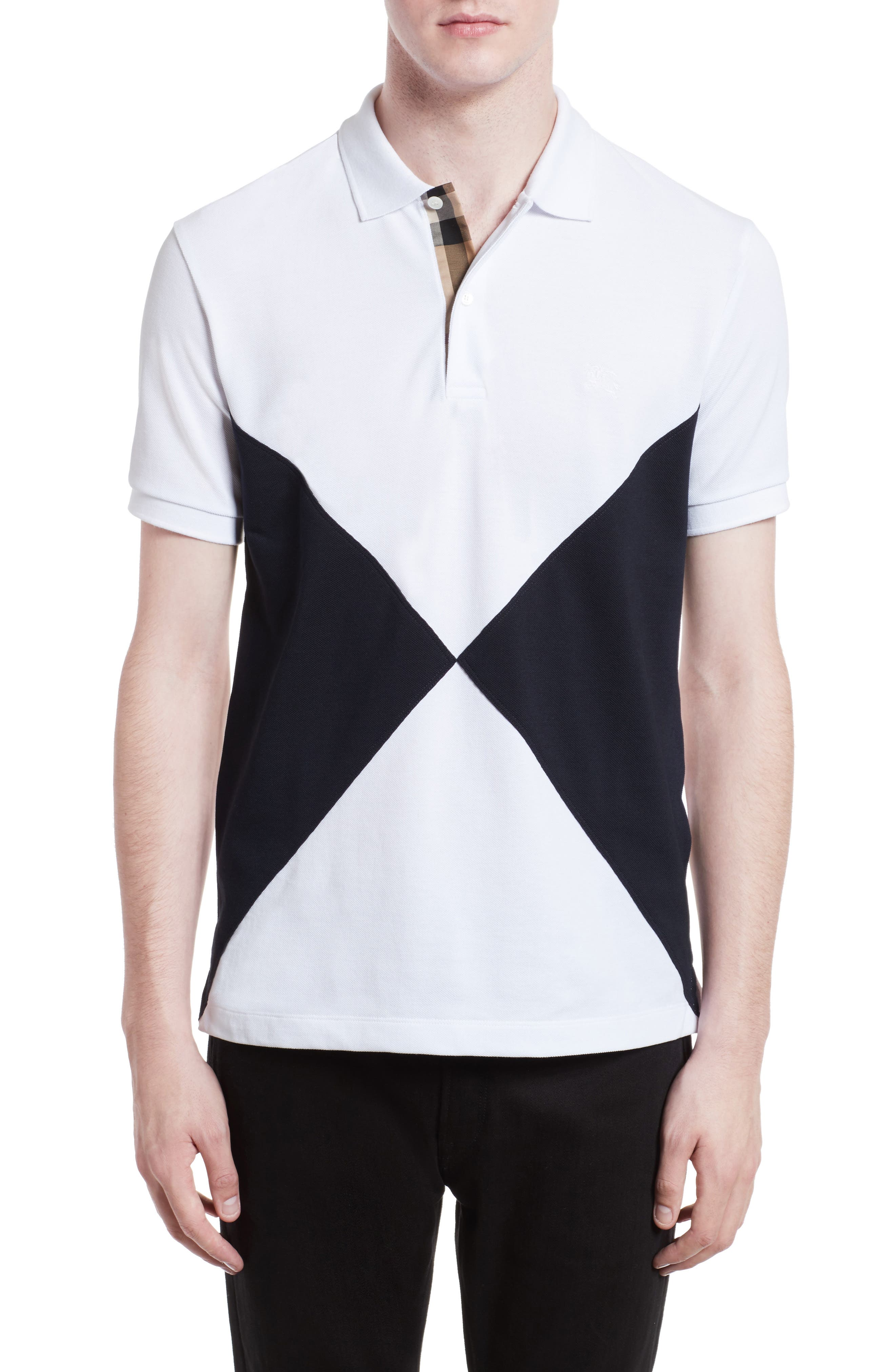 Burberry Louis Abown Trim Fit Short Sleeve Piqué Polo