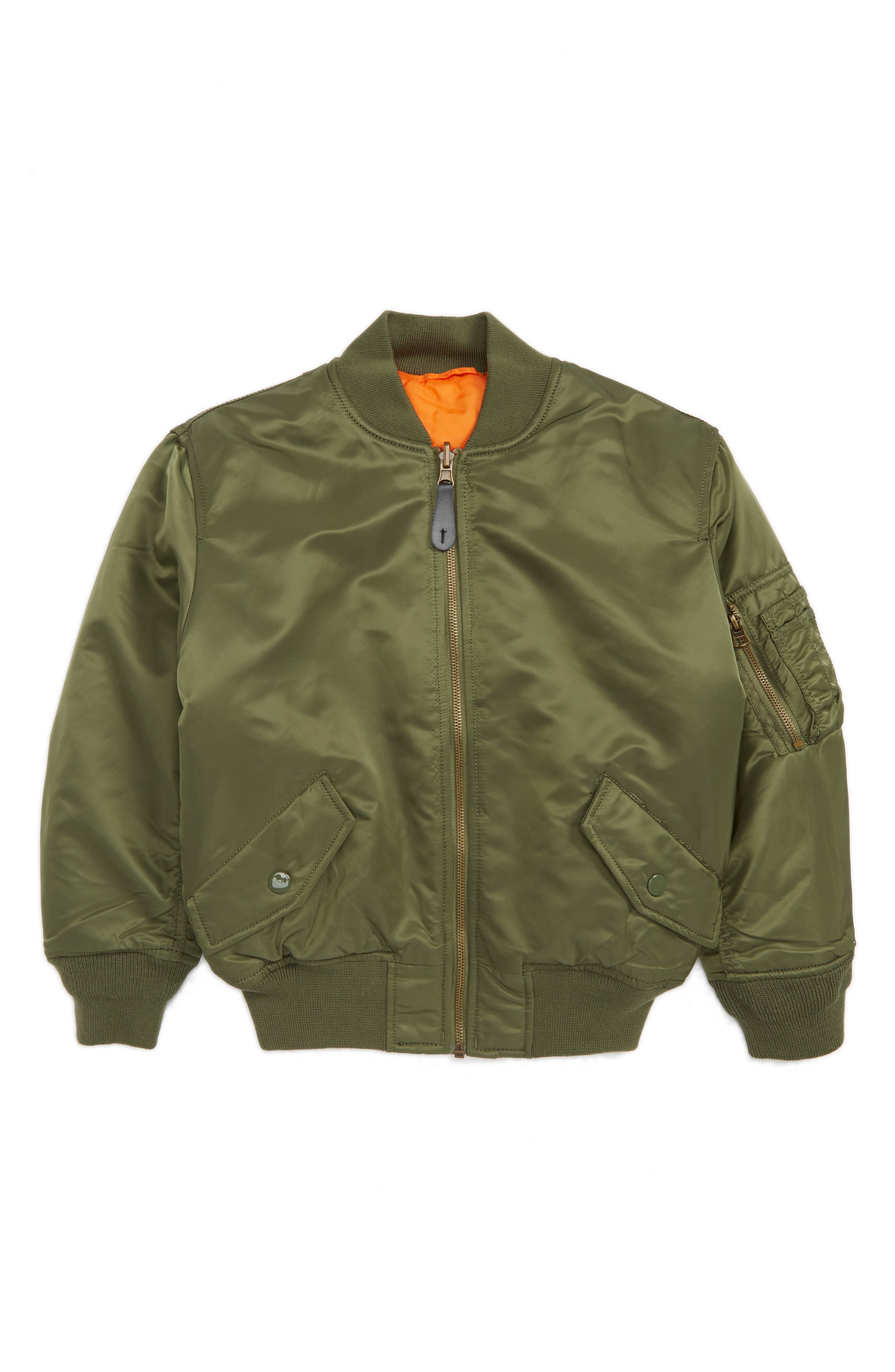 Alpha Industries MA-1 Flight Jacket (Toddler Boys, Little Boys & Big Boys)