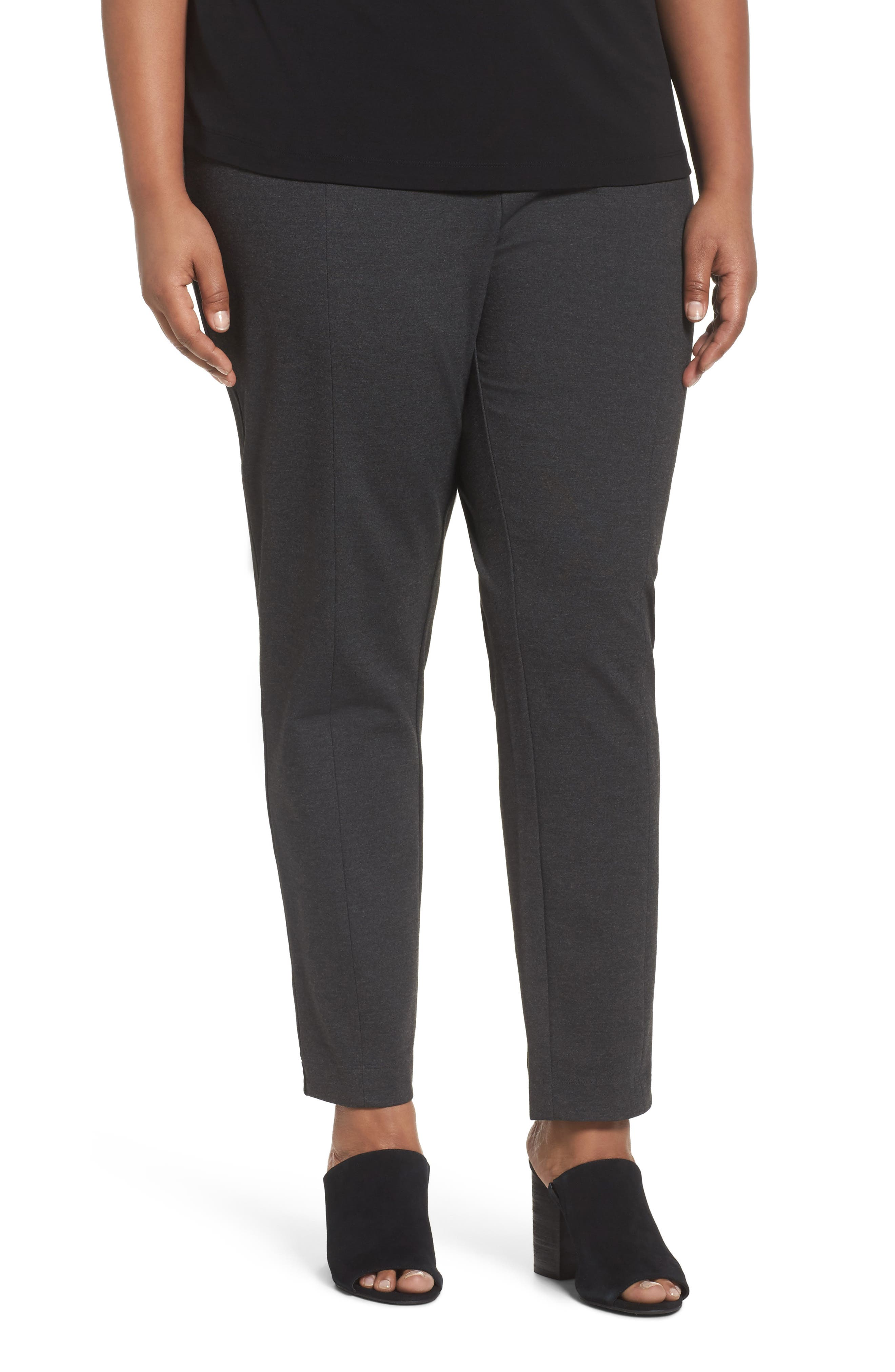 Eileen Fisher Seam Detail Pull-On Pants (Plus Size)
