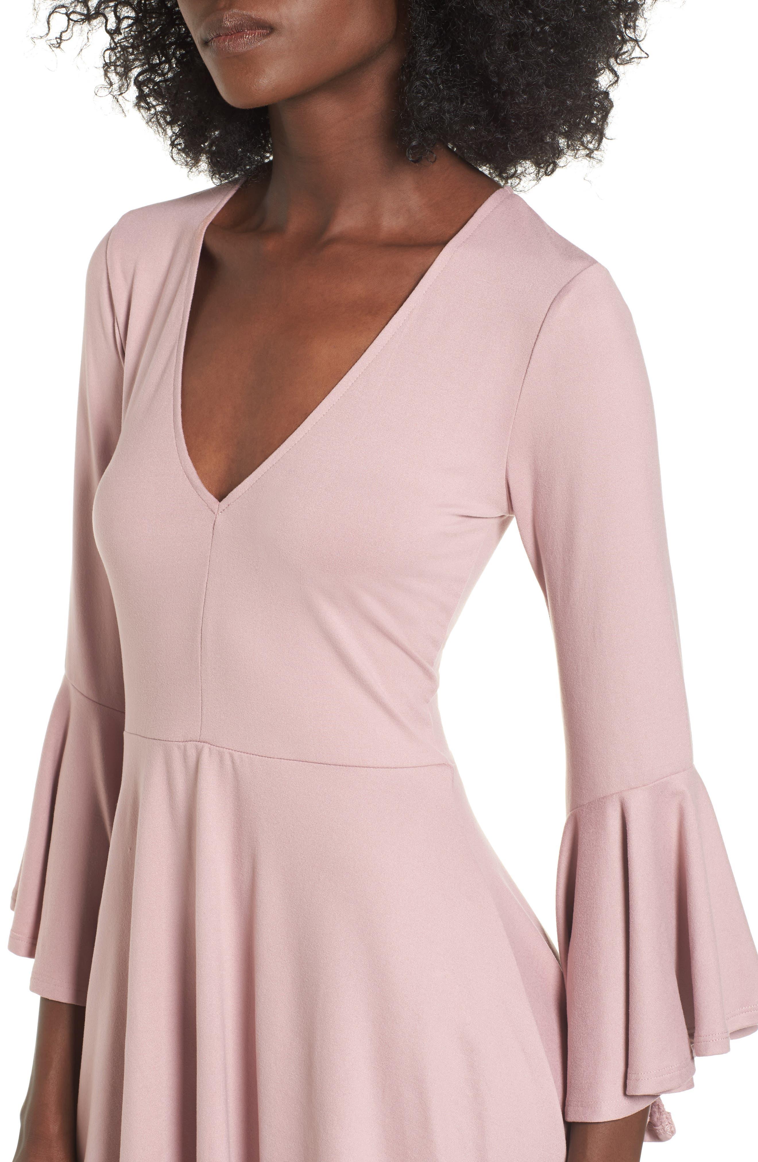 Alternate Image 4  - Socialite Bell Sleeve Knit Dress