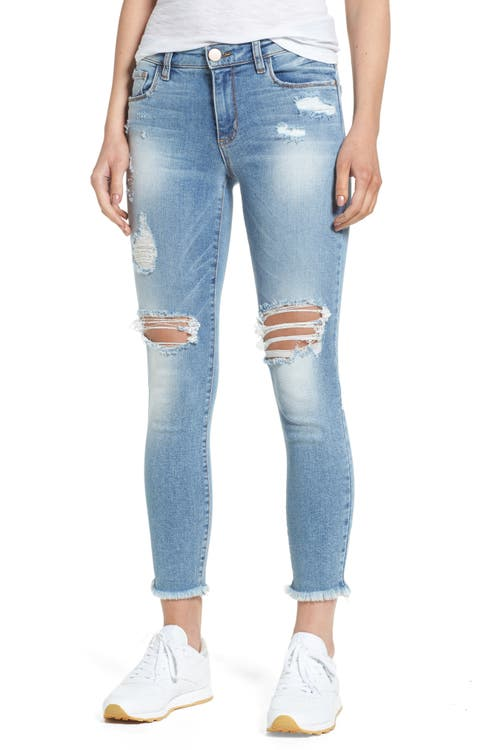 Main Image - BP. Ripped Ankle Skinny Jeans (Destroy Medium Worn Wash)