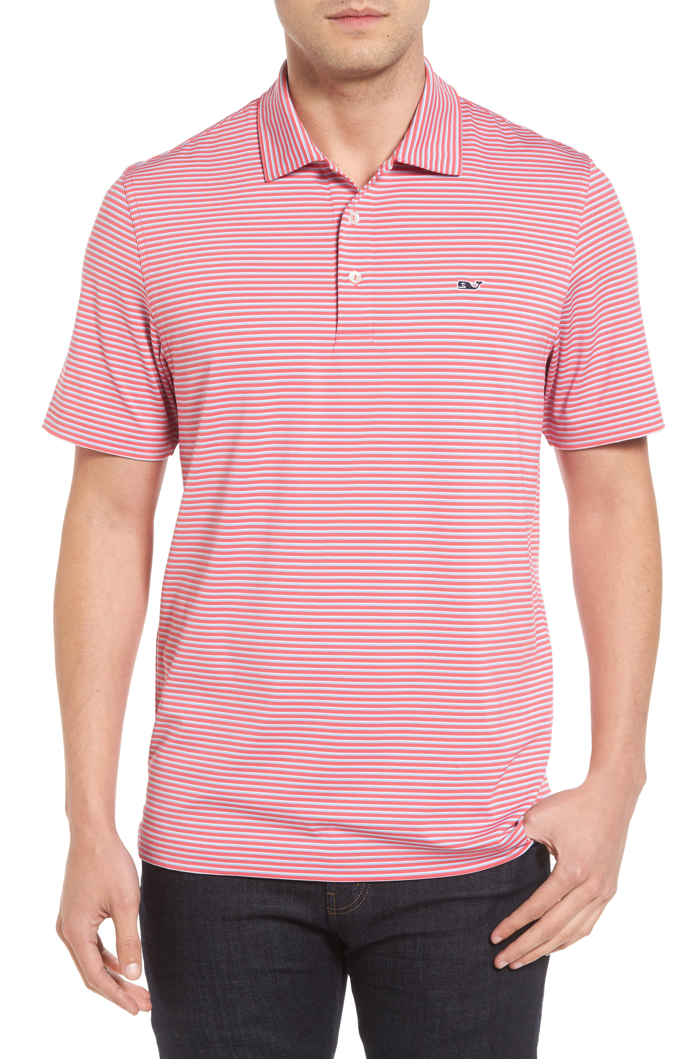 Vineyard Vines Stripe Golf Polo
