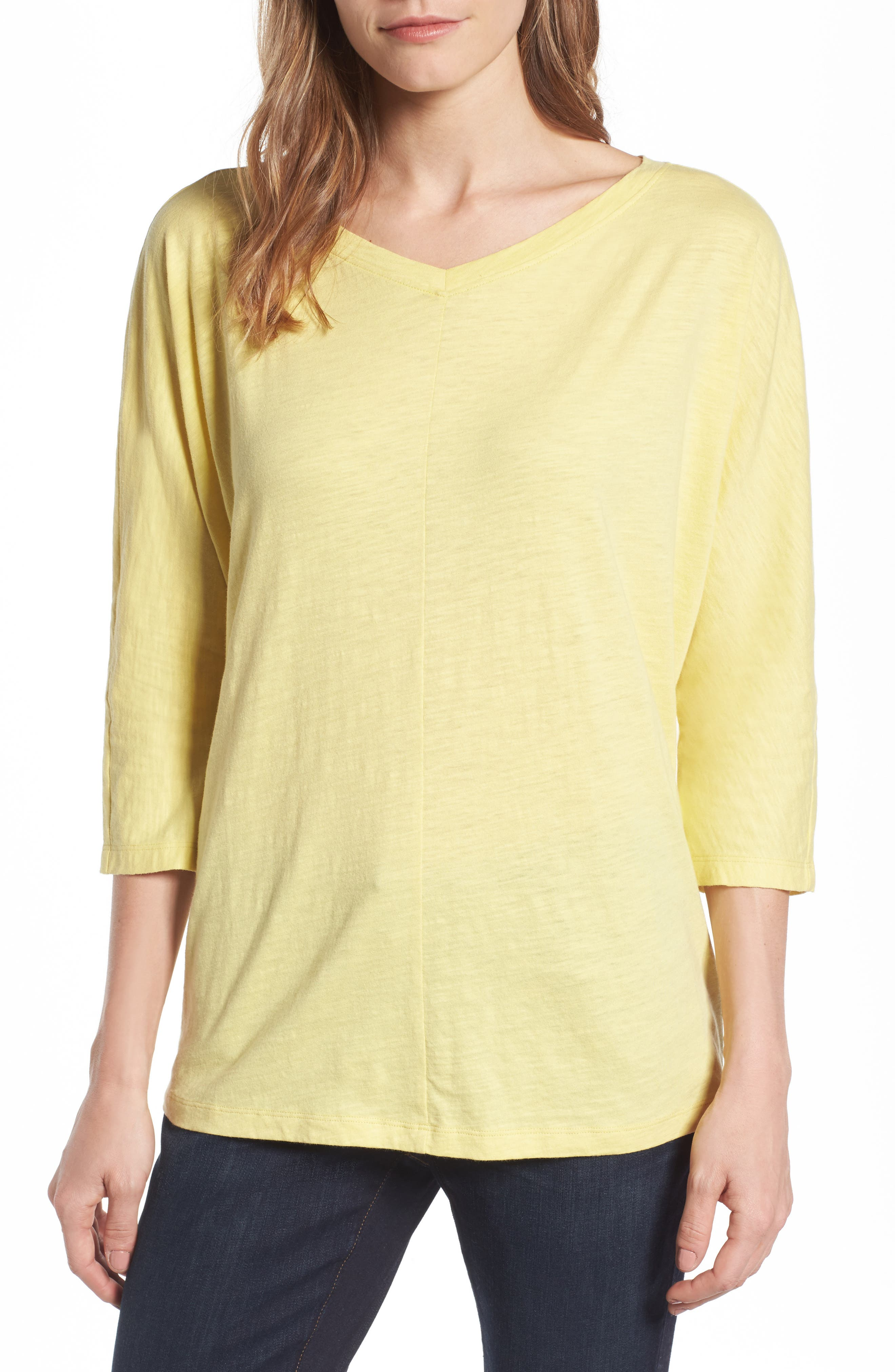 Eileen Fisher Organic Cotton Knit Boxy Top