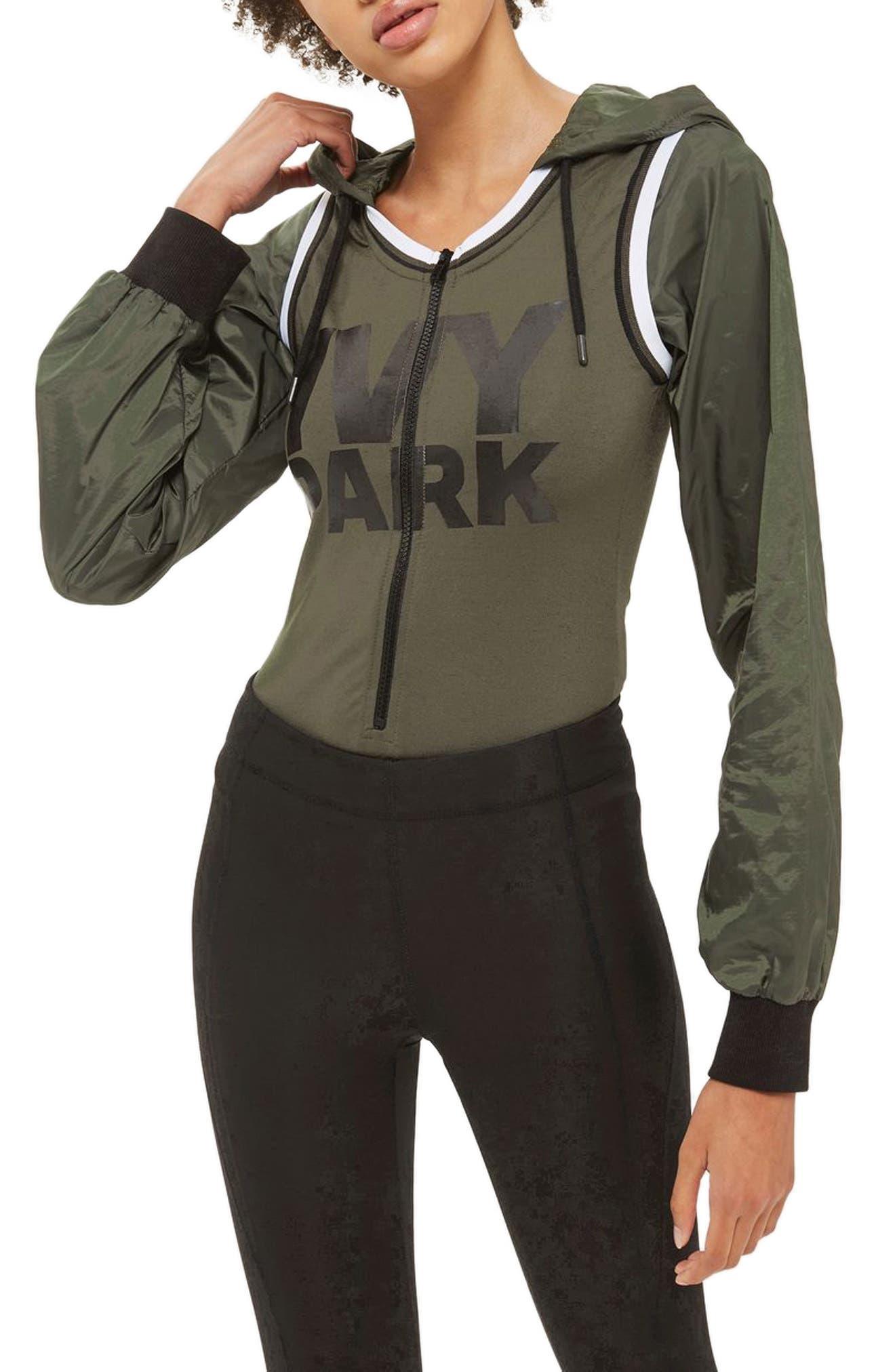 IVY PARK® Hooded Bodysuit