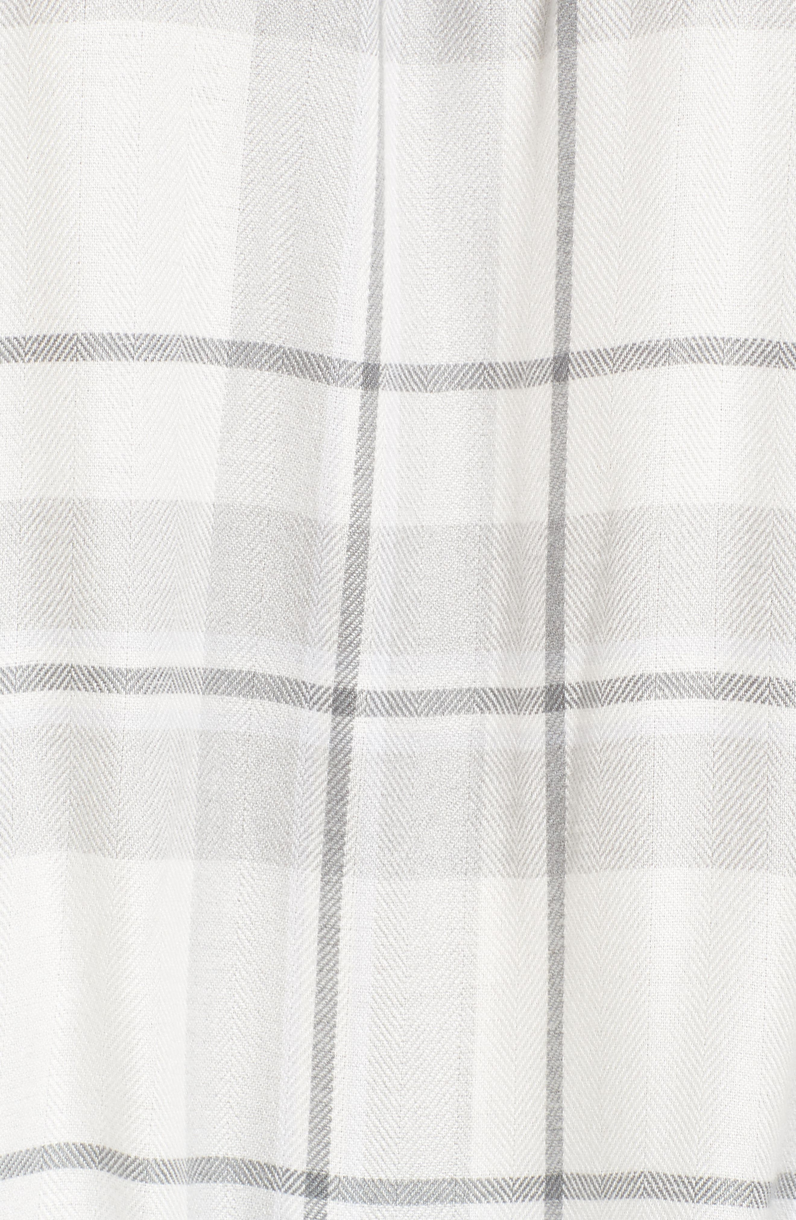 Alternate Image 5  - Two by Vince Camuto Off the Shoulder Plaid Blouse (Regular & Petite)