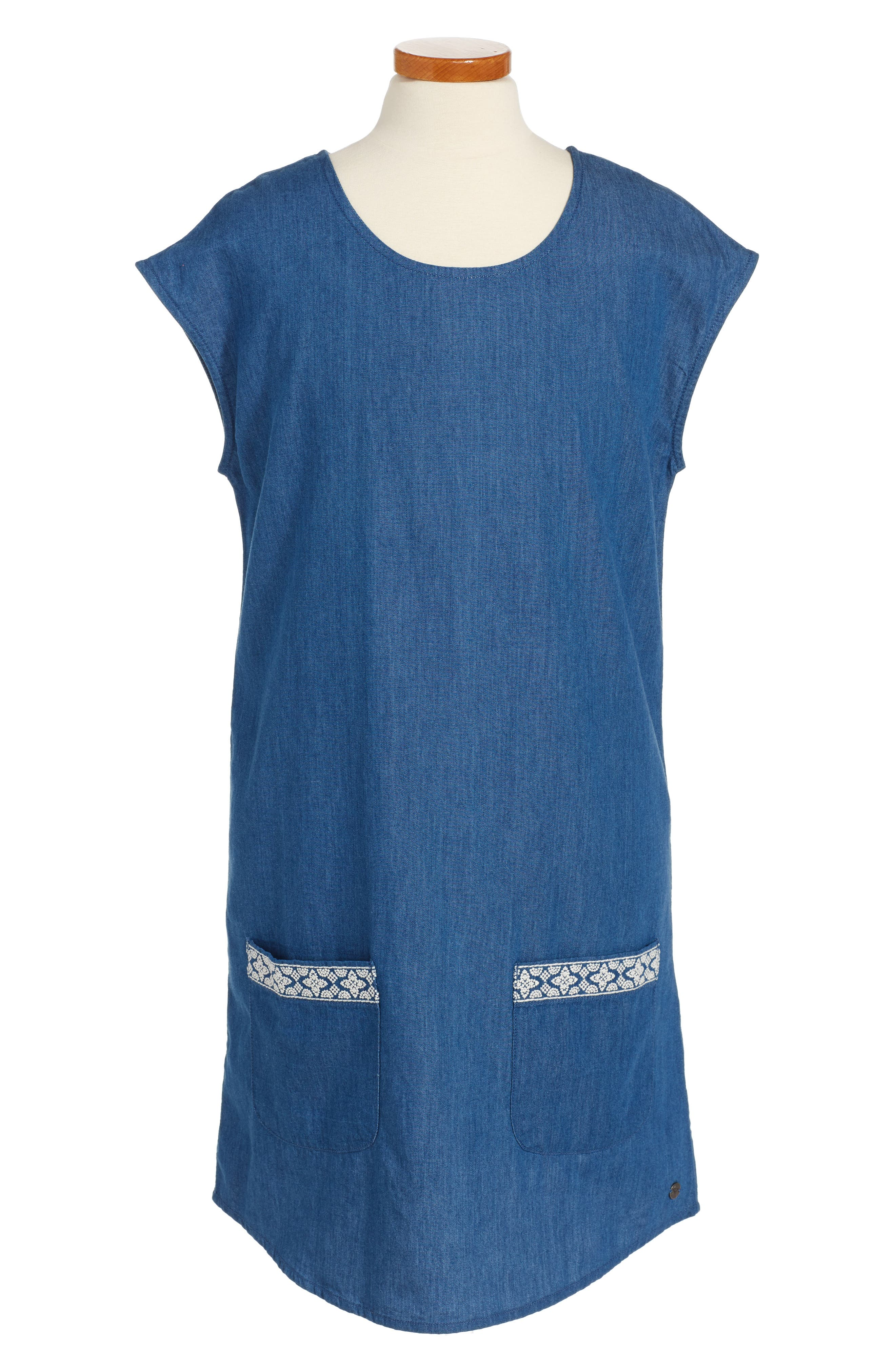 Roxy Chambray Shift Dress (Big Girls)