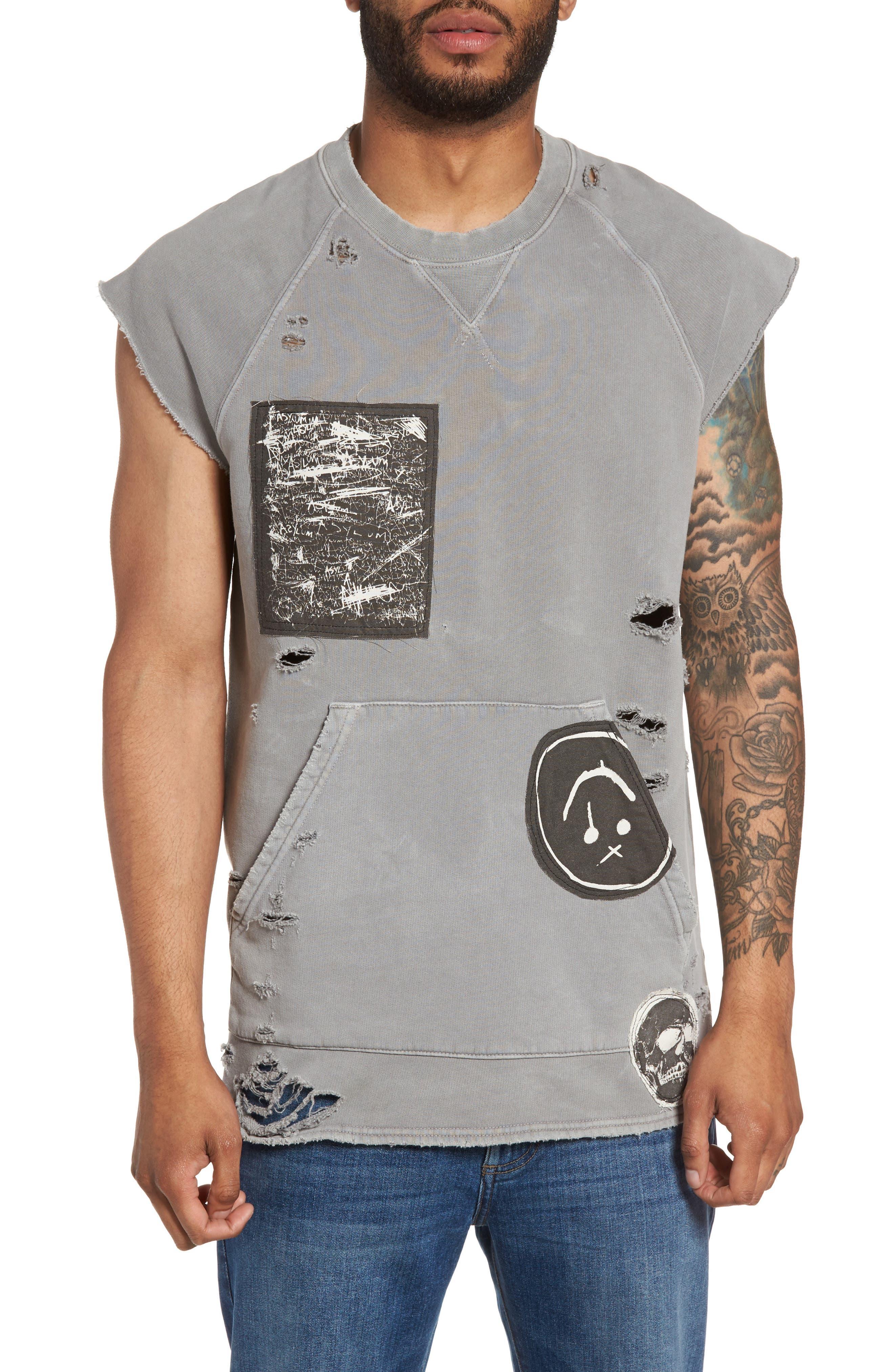 Hudson Jeans Rex Cutoff Sleeve Sweatshirt