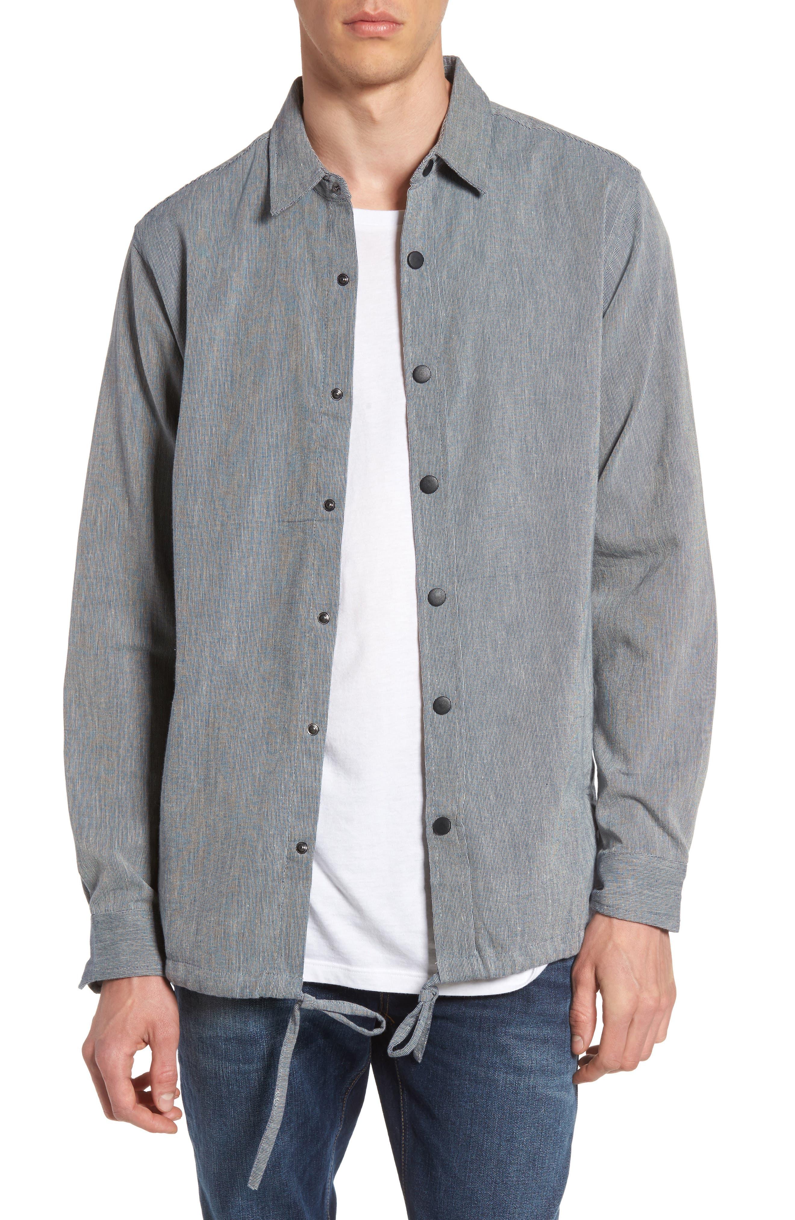 Ezekiel Textured Cotton Coach's Jacket