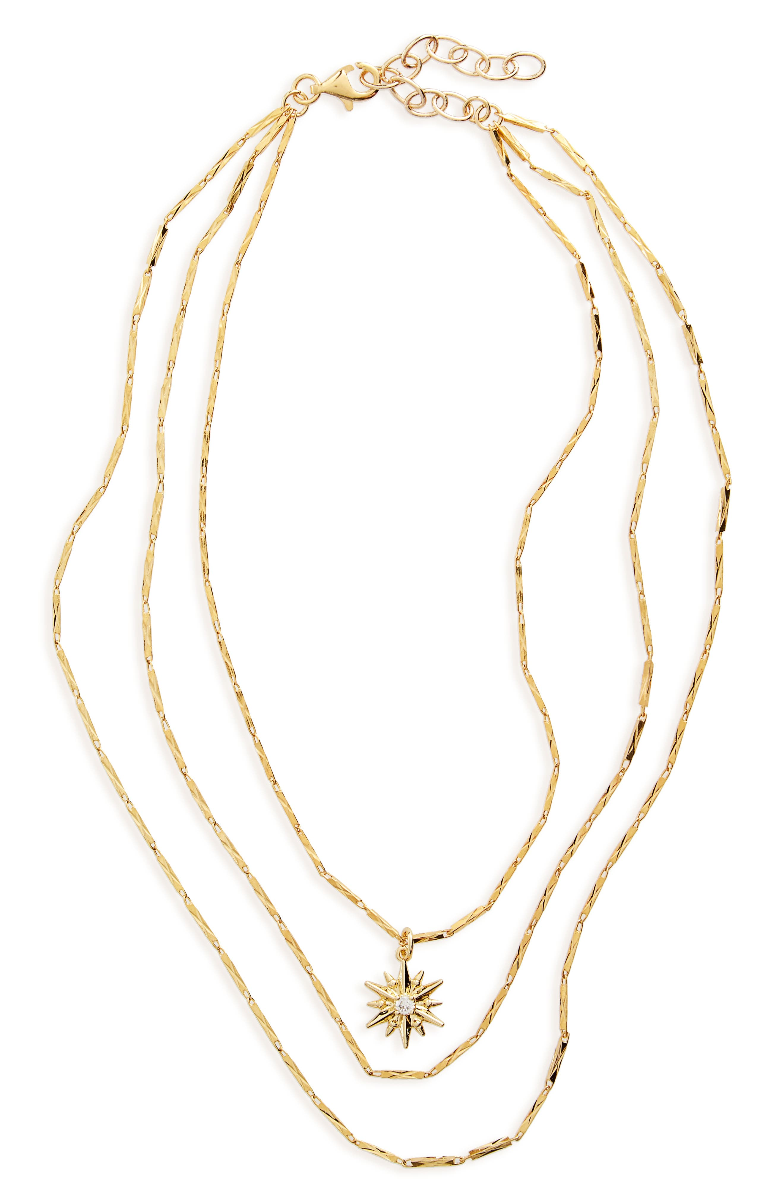 FRASIER STERLING Stop Playing Layered Necklace