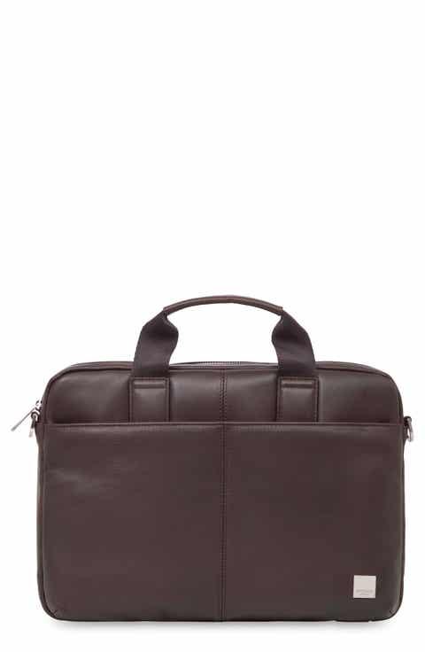 KNOMO London Brompton Stanford RFID Leather Briefcase