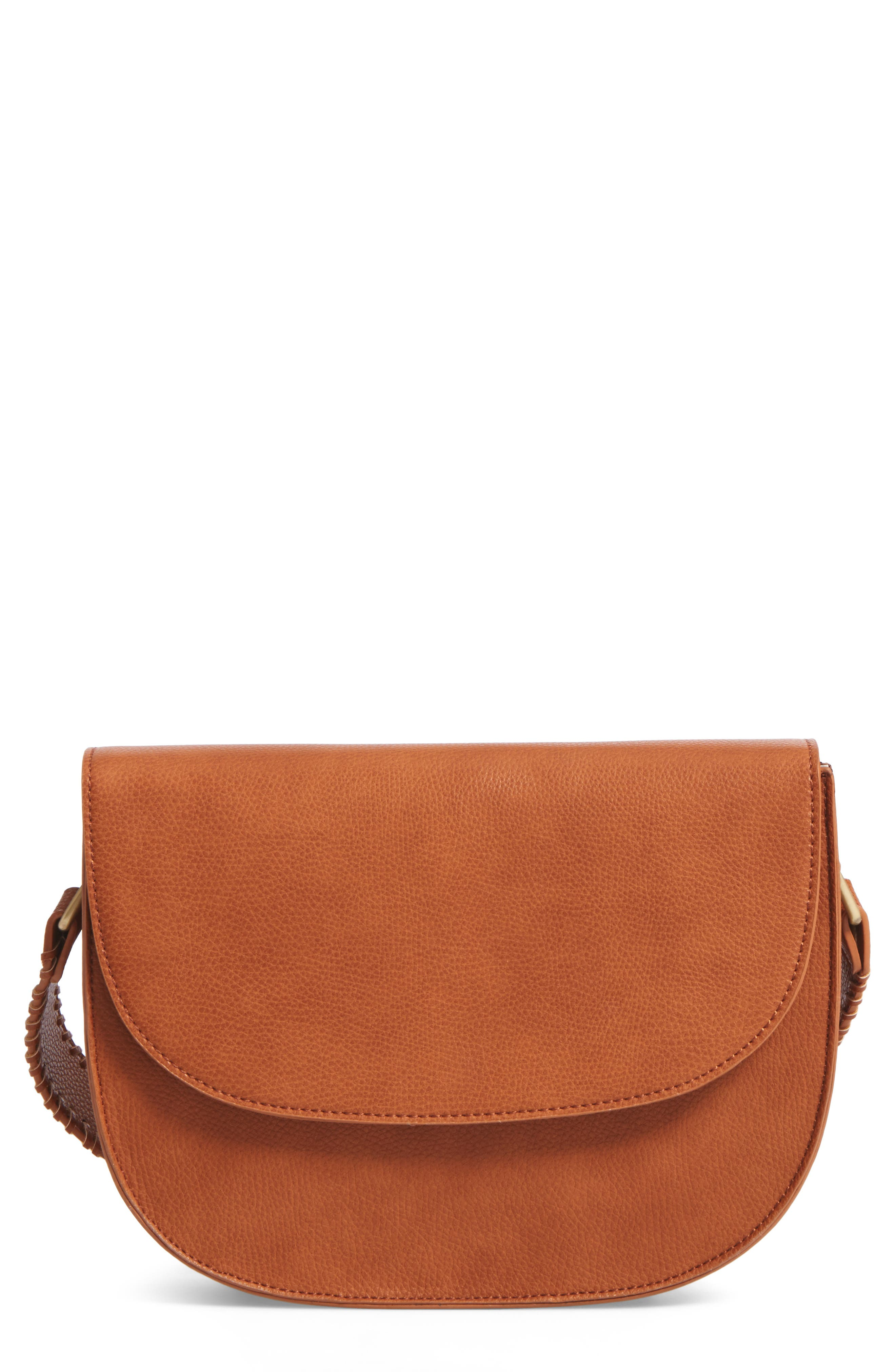 Alternate Image 1 Selected - Sole Society Honor Faux Leather Messenger Bag