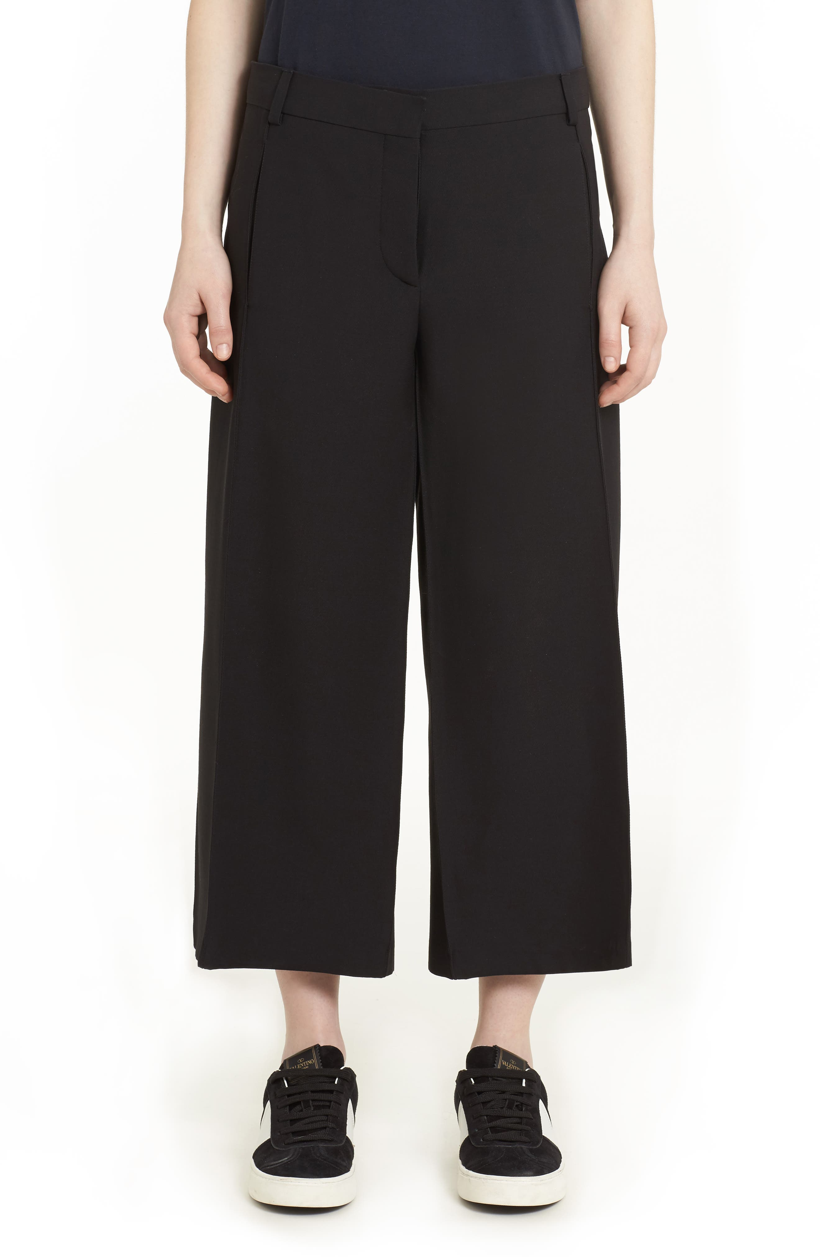 Valentino Crepe Couture Wool & Silk Culottes