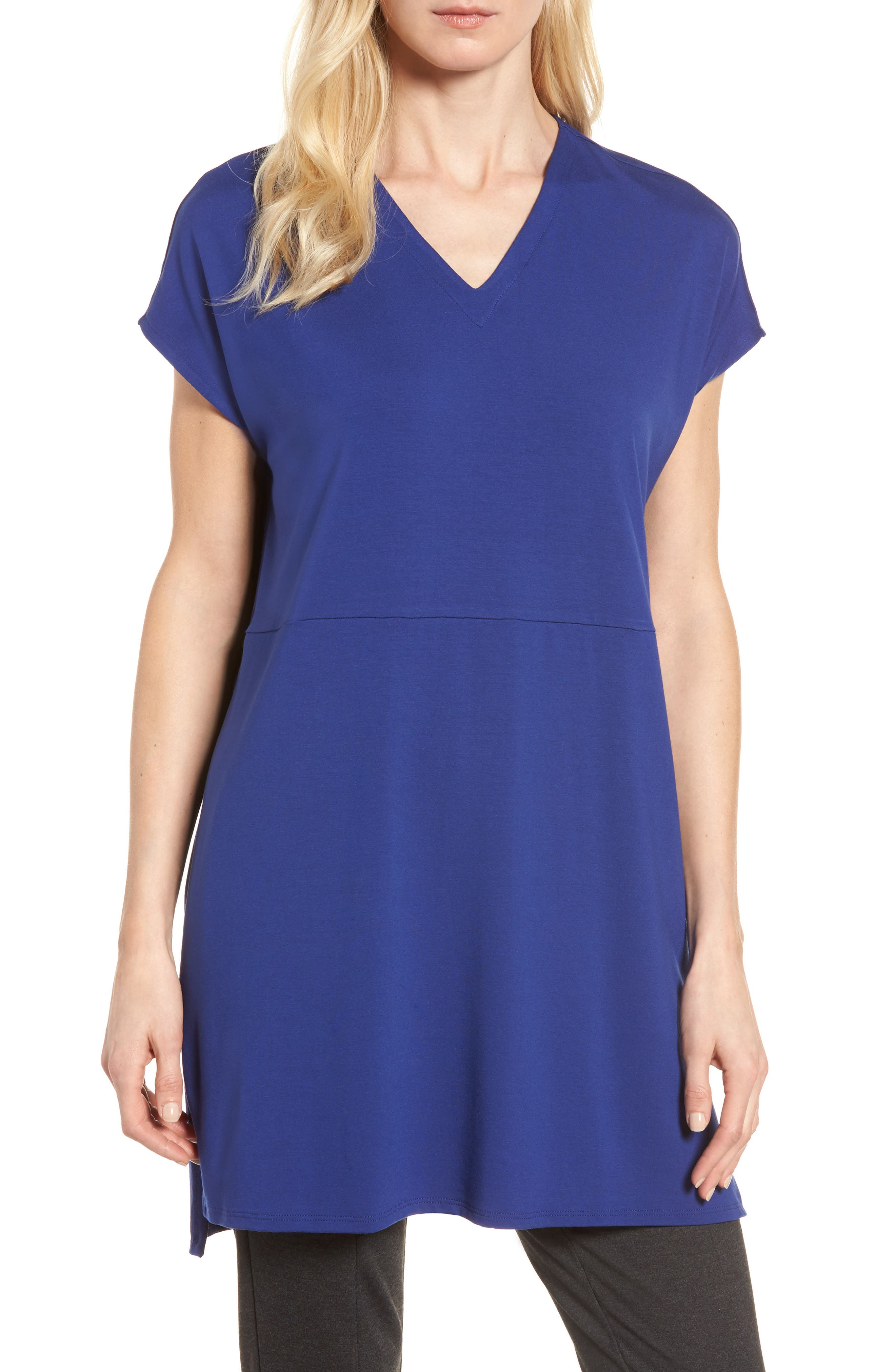Eileen Fisher Jersey Tunic (Regular & Petite)