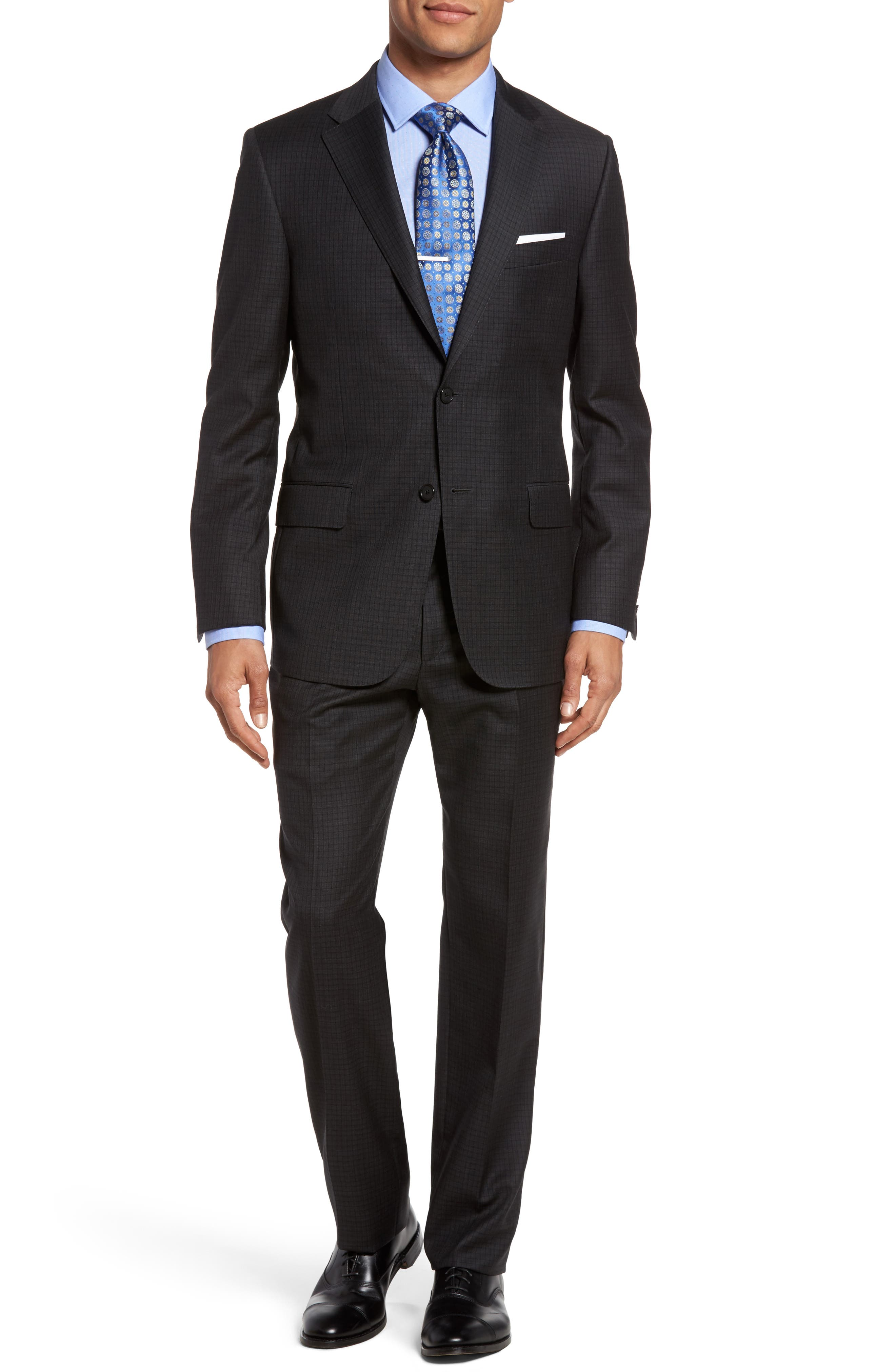 Hickey Freeman B-Series Classic Fit Check Wool Suit