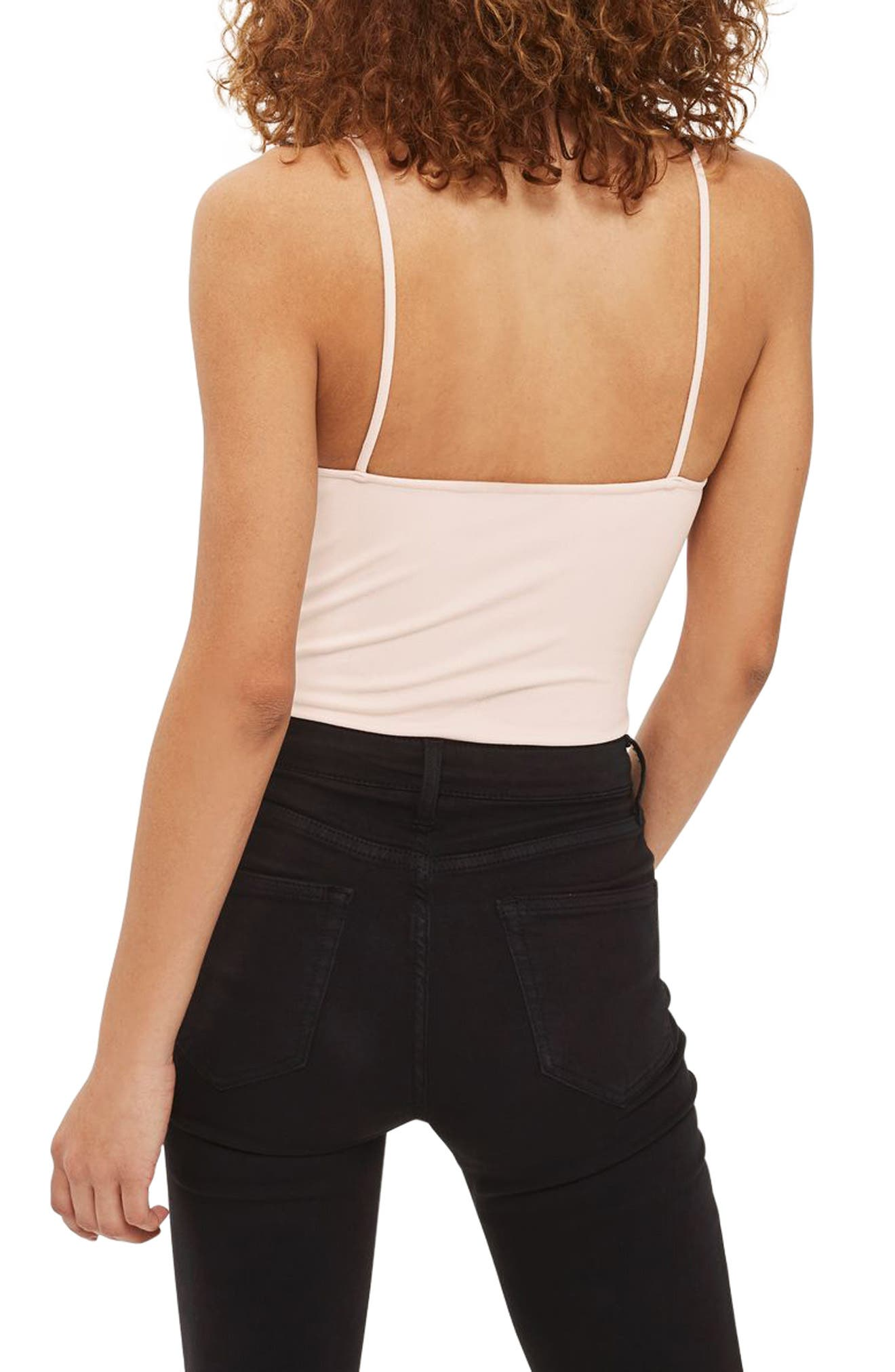 Alternate Image 3  - Topshop Appliqué Lace-Up Bodysuit