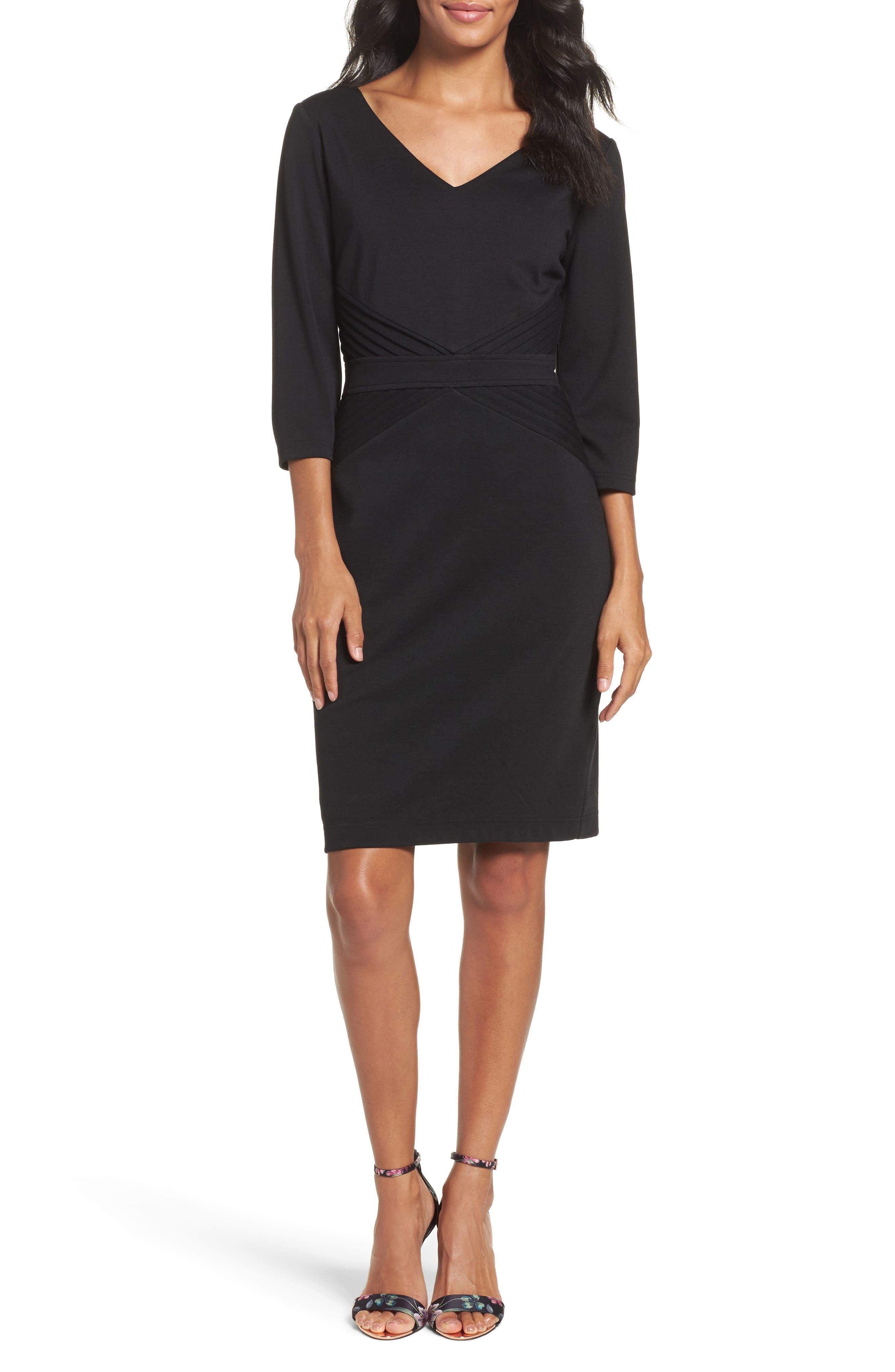 Ellen Tracy Ponte Sheath Dress (Regular & Petite)