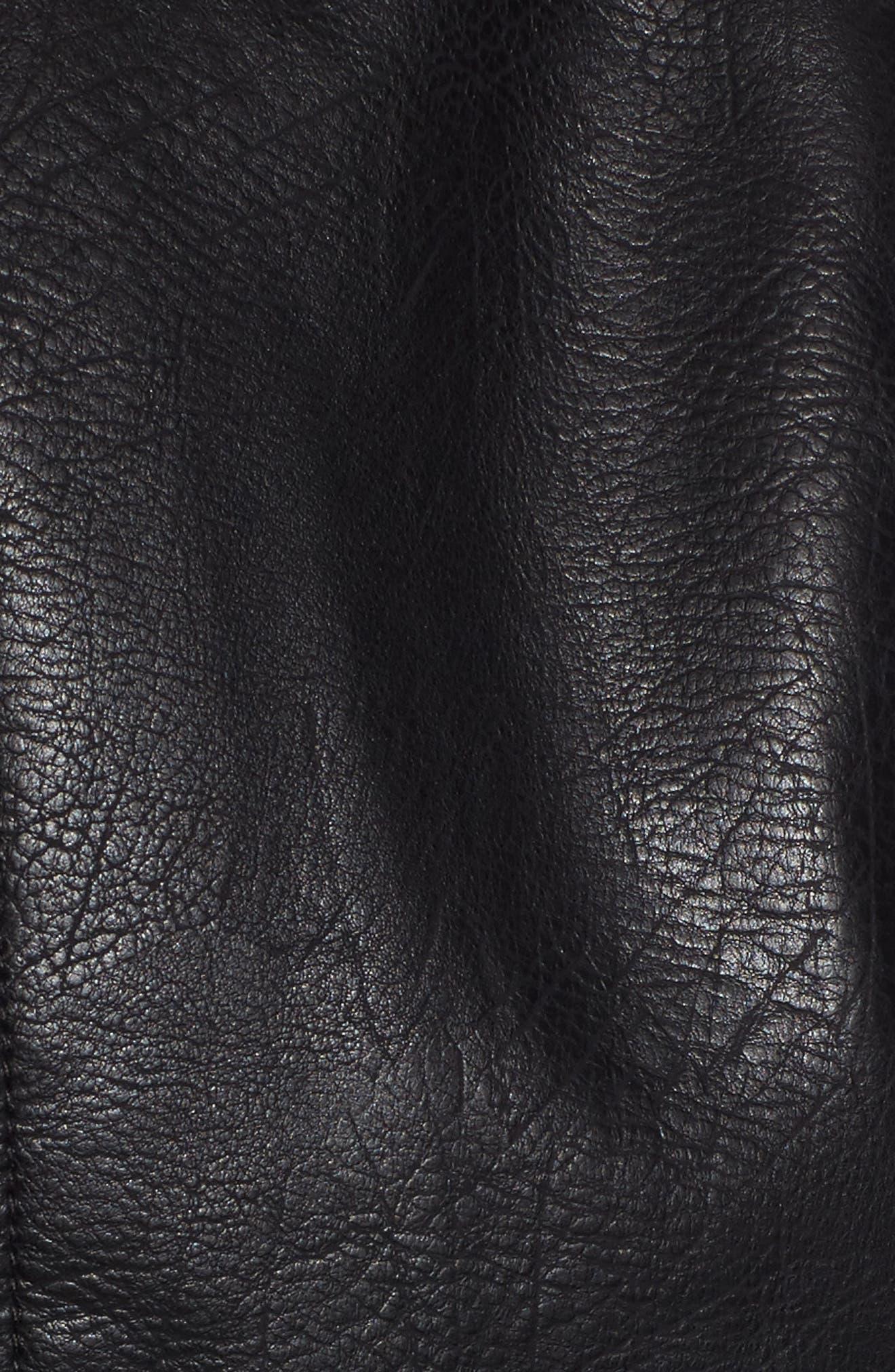 Alternate Image 5  - Steve Madden Studded Faux Leather Biker Jacket